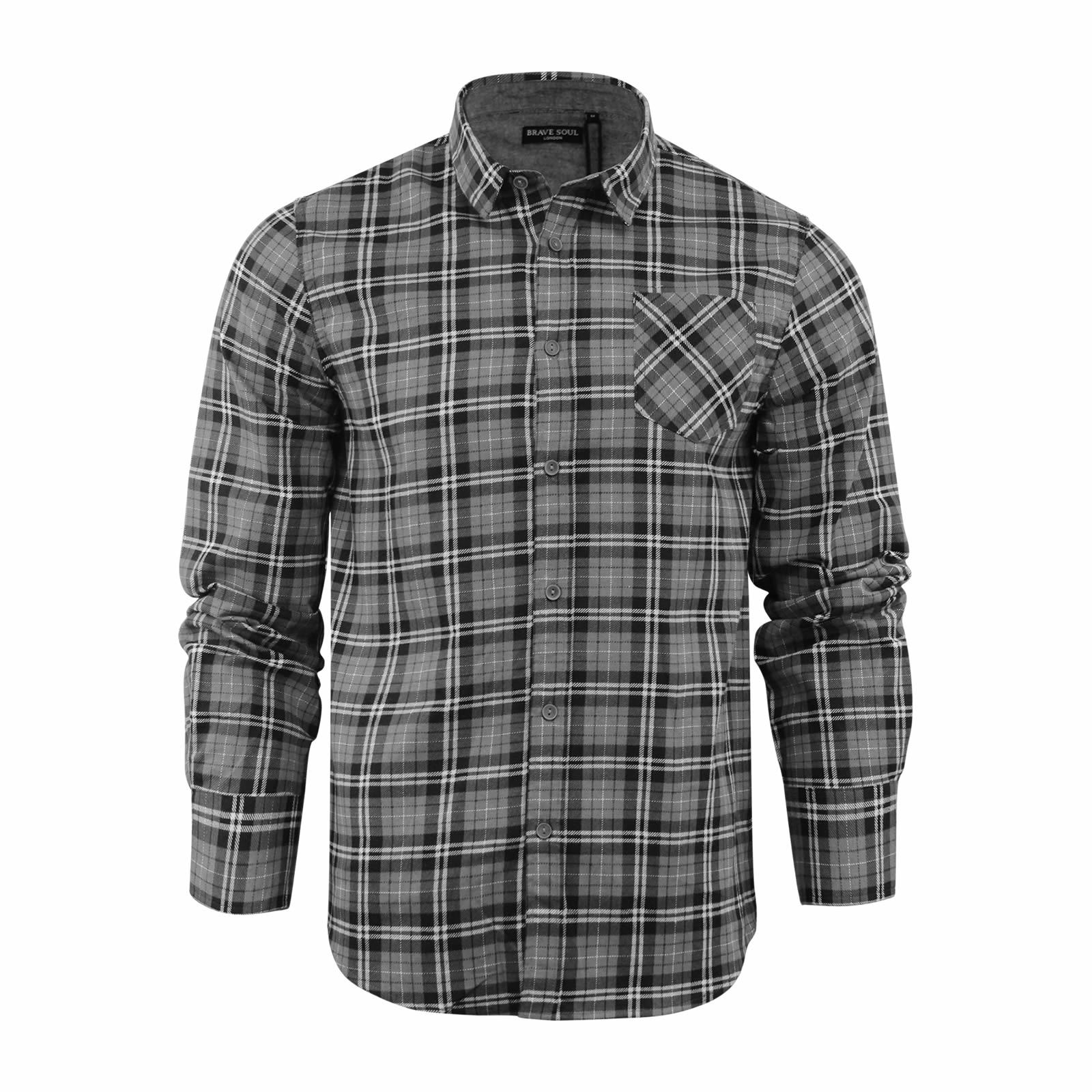 Mens Black And White Checked Shirts