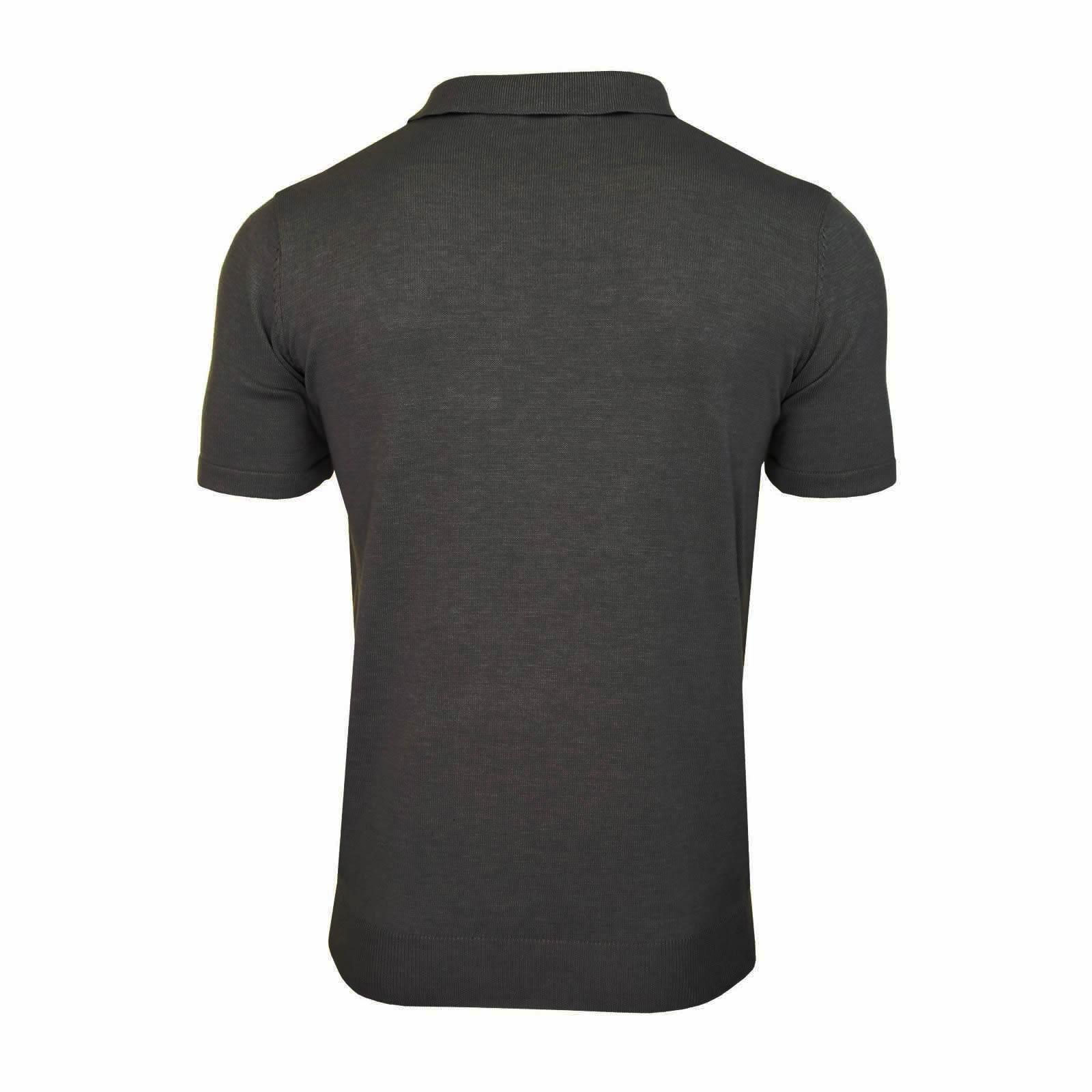 Mens-Knitted-Polo-Brave-Soul-Columbus-Collared-Short-Sleeve-Jumper-T-Shirt thumbnail 21