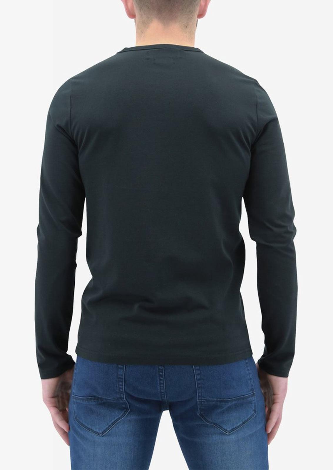 Ne-riche-par-l-039-argent-vetements-jaspe-sanguin-Hommes-T-Shirt-a-Manches-Longues-V-Neck-Tee miniature 9