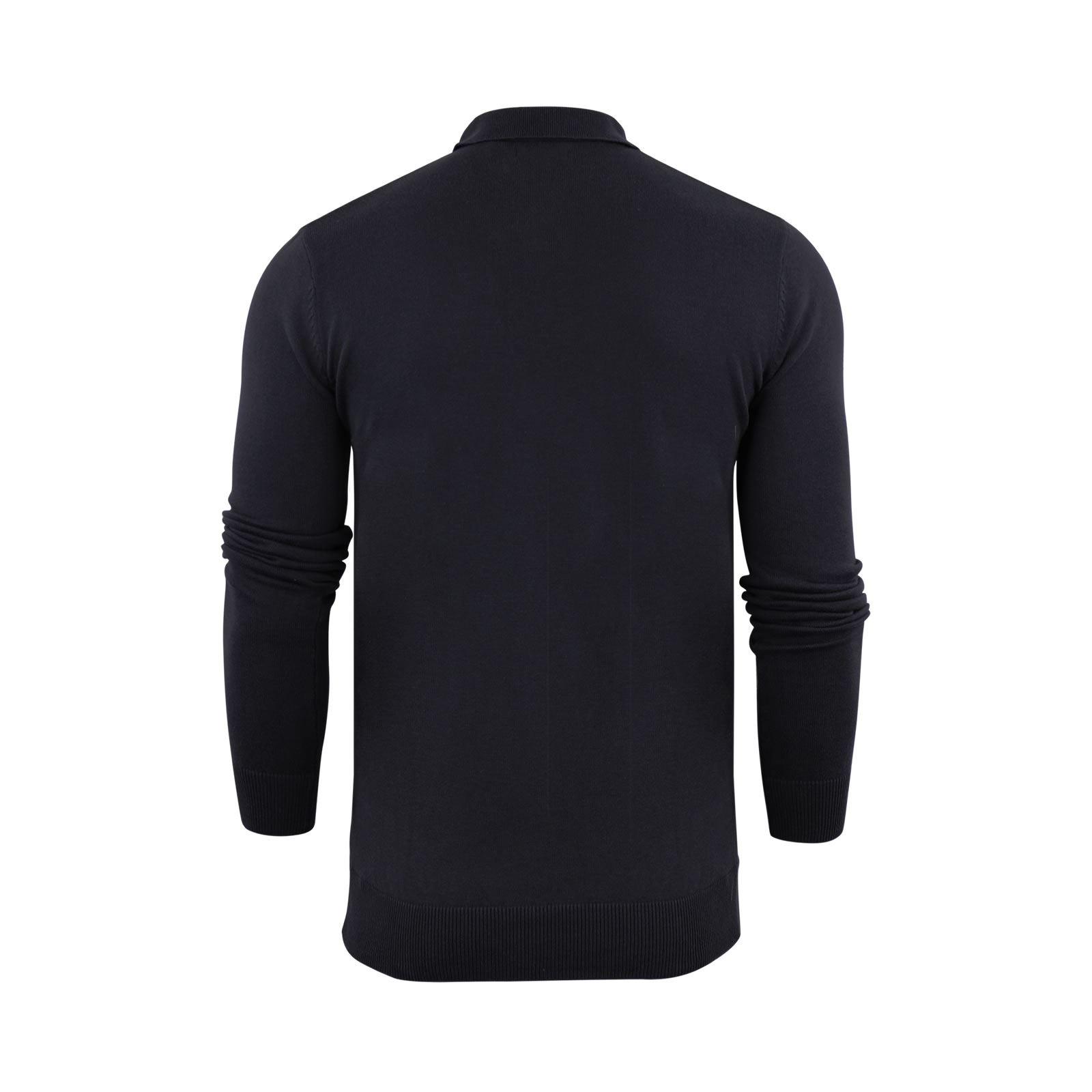 Brave-Soul-Patte-De-Boutonnage-Homme-Tricot-Polo-T-Shirt-a-Col-Pull miniature 15