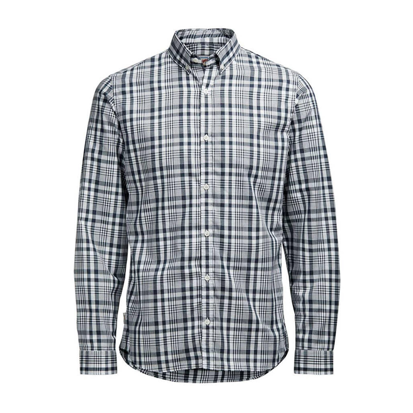JACK-amp-JONES-Noah-Mens-Check-Shirt-Long-Sleeve-Collared-Cotton-Casual-Shirt thumbnail 3