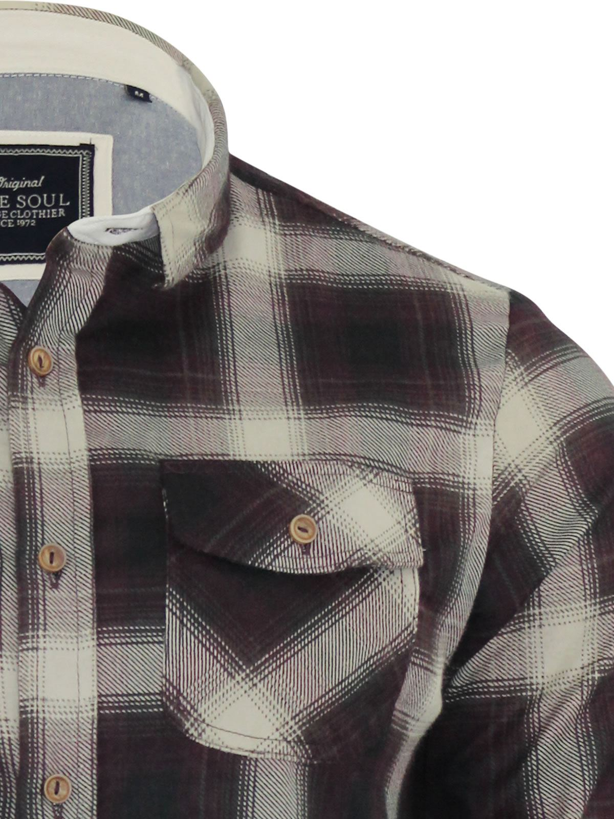Mens-Check-Shirt-Brave-Soul-Flannel-Brushed-Cotton-Long-Sleeve-Casual-Top thumbnail 19