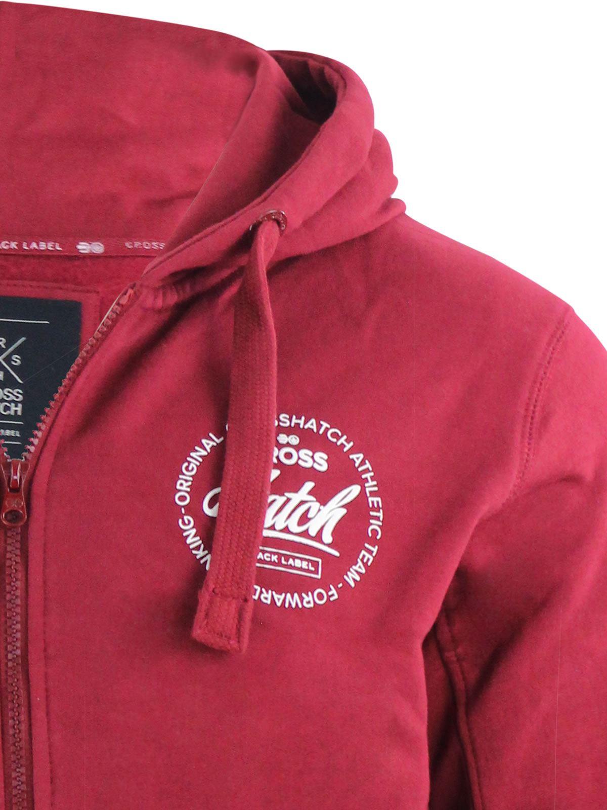 Mens-Hoodie-Crosshatch-Ribbler-Zip-Up-Hooded-Jacket-Pullover-Jumper-Sweatershirt thumbnail 23