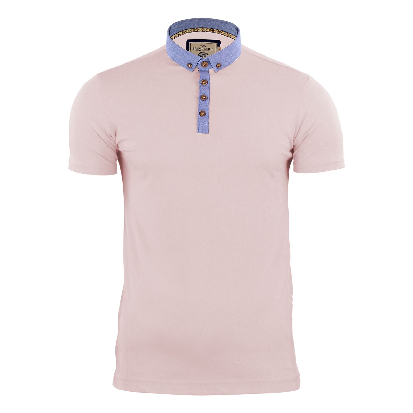 Para-Hombre-Polo-T-Shirt-Alma-valiente-Glover-Algodon-Con-Cuello-Y-Manga-Corta-Casual-Top miniatura 48