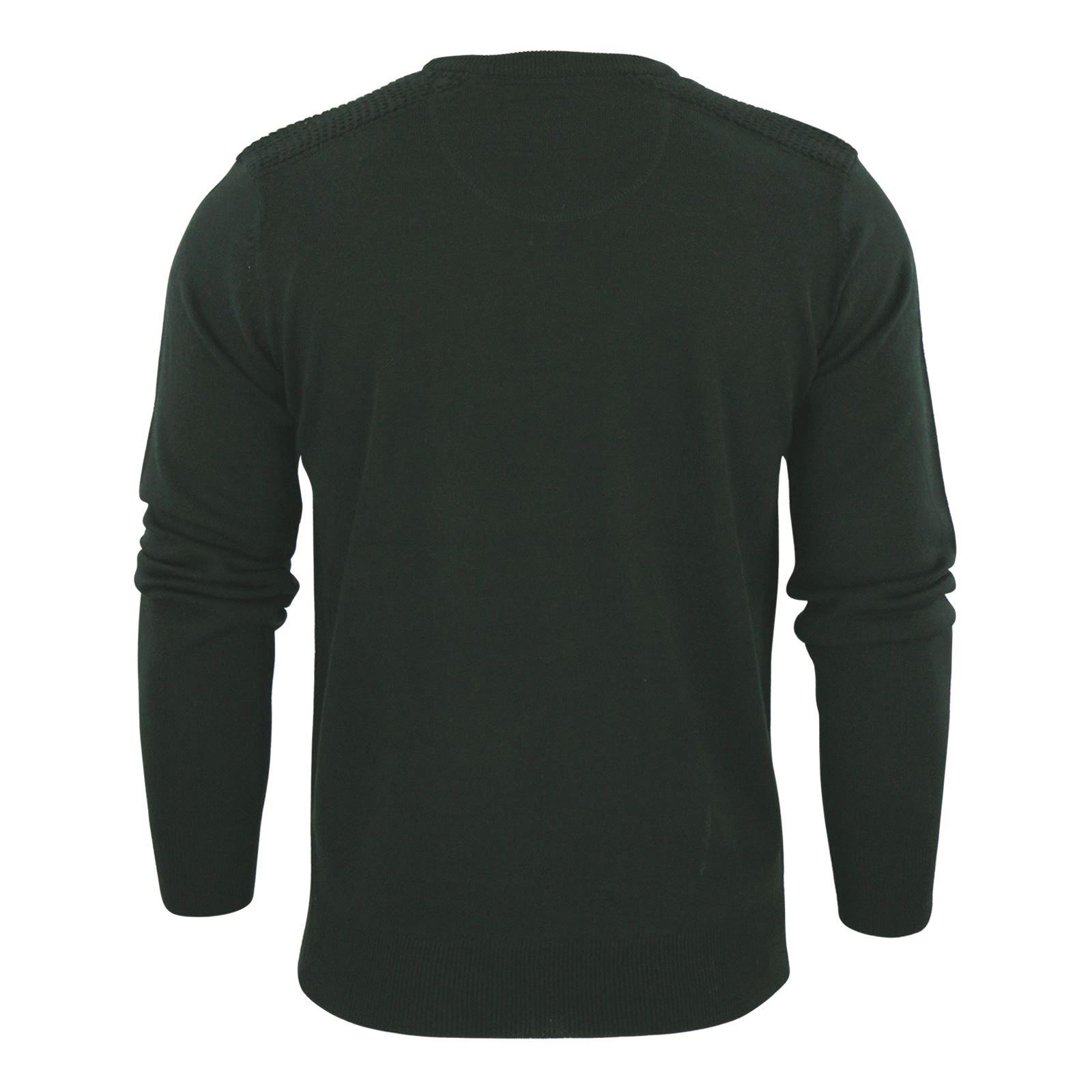 Brave-Soul-Luna-Mens-Jumper-Crew-Neck-Sweater-With-Shoulder-Detailing miniature 12