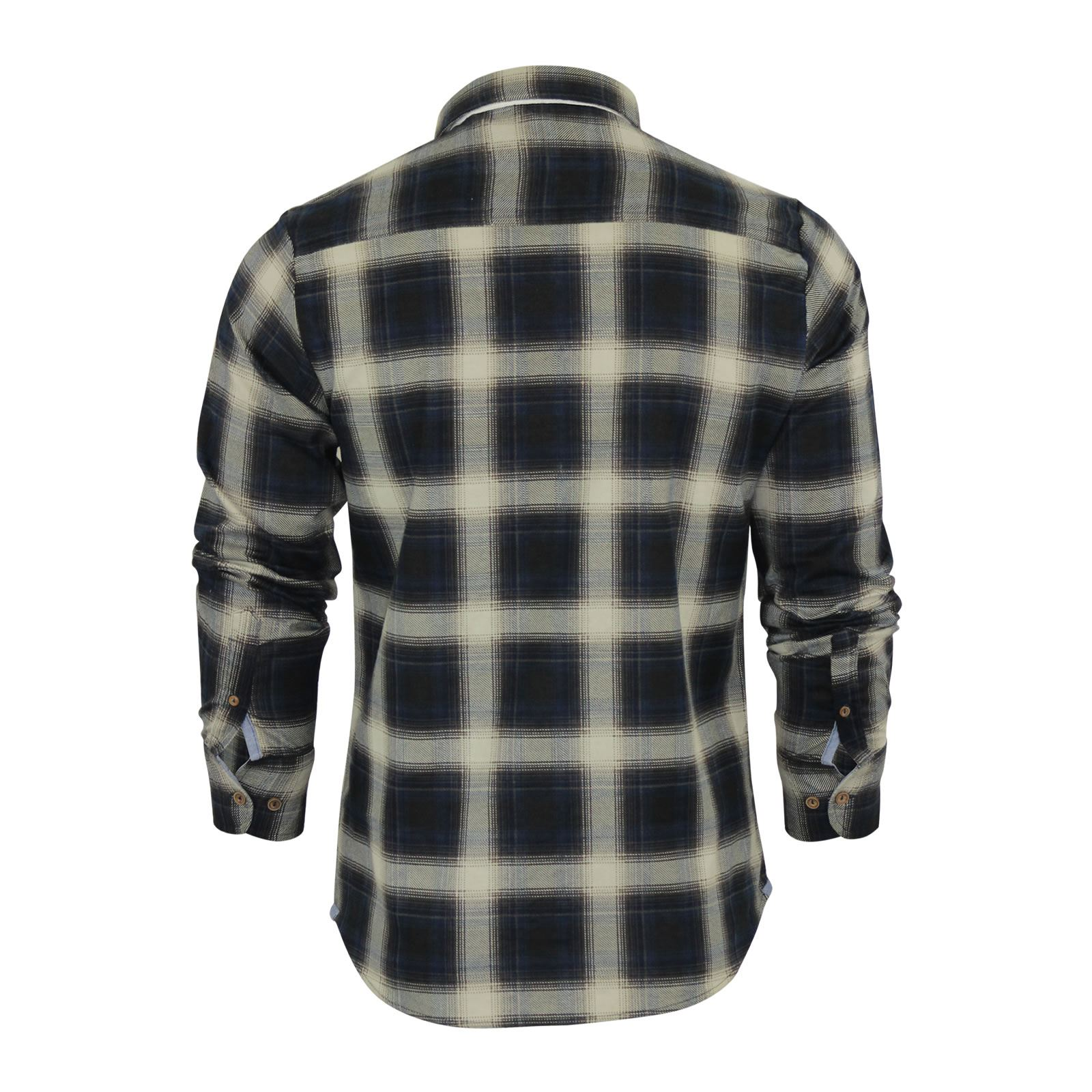 Mens-Check-Shirt-Brave-Soul-Flannel-Brushed-Cotton-Long-Sleeve-Casual-Top thumbnail 15