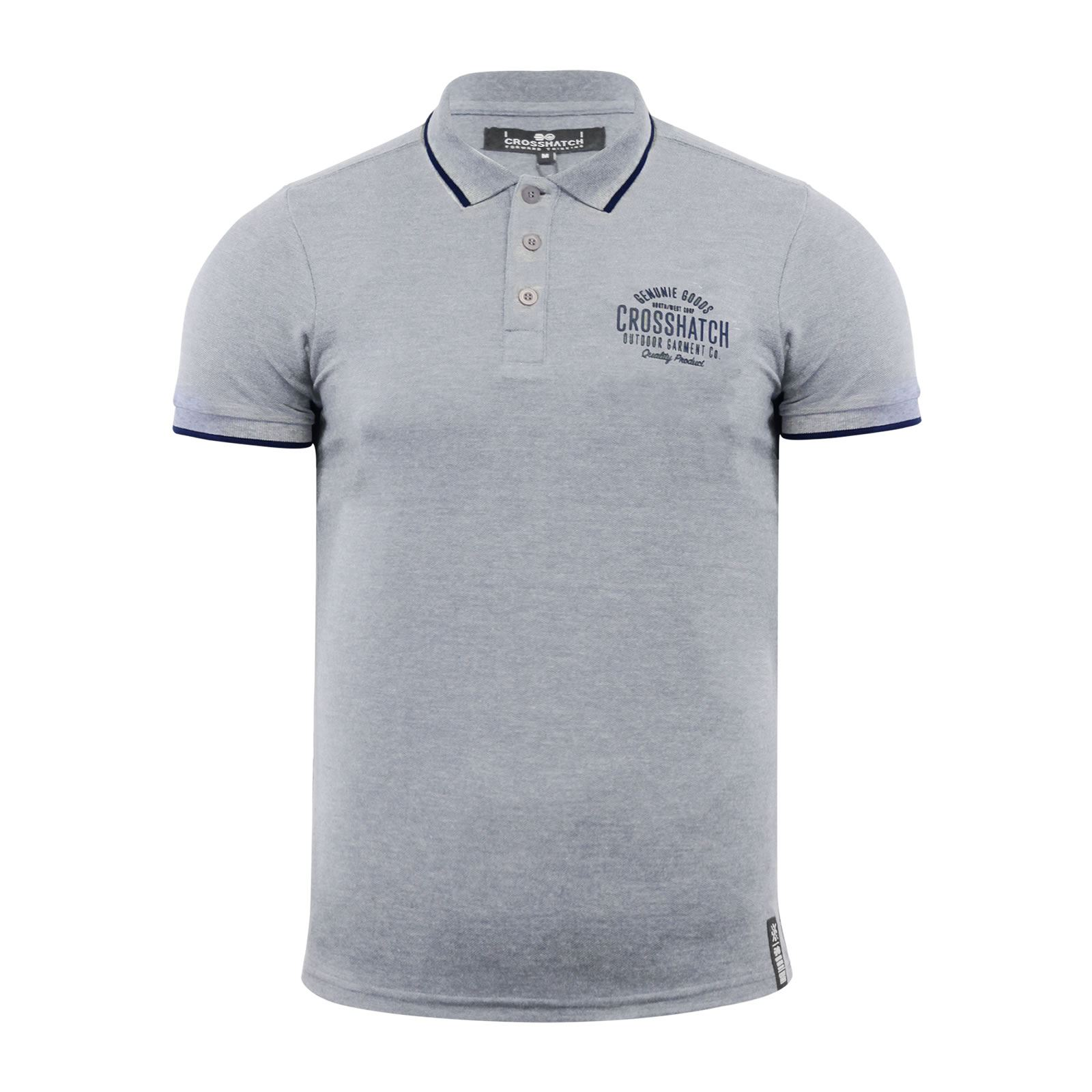 Crosshatch-Mens-Polo-T-Shirt-Pique-Polo-Cotton-Collared-Short-Sleeve-T-Shirt thumbnail 80