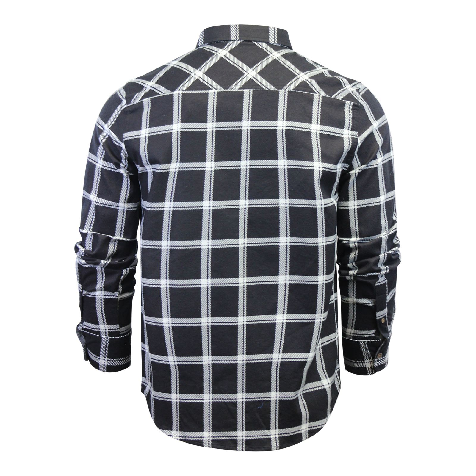 Mens-Check-Shirt-Brave-Soul-Flannel-Brushed-Cotton-Long-Sleeve-Casual-Top thumbnail 99