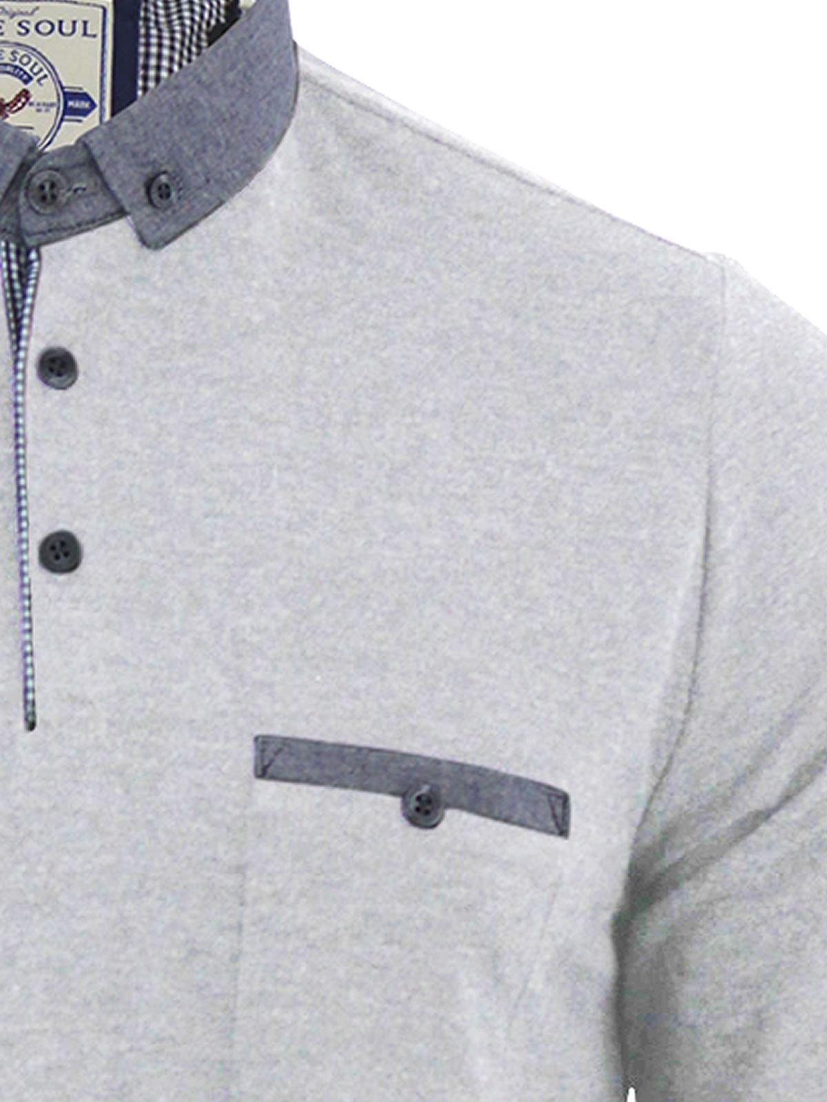 Brave-Soul-Polo-Homme-a-Manches-Longues-A-Col-Haut-Dans-Divers-Styles miniature 79