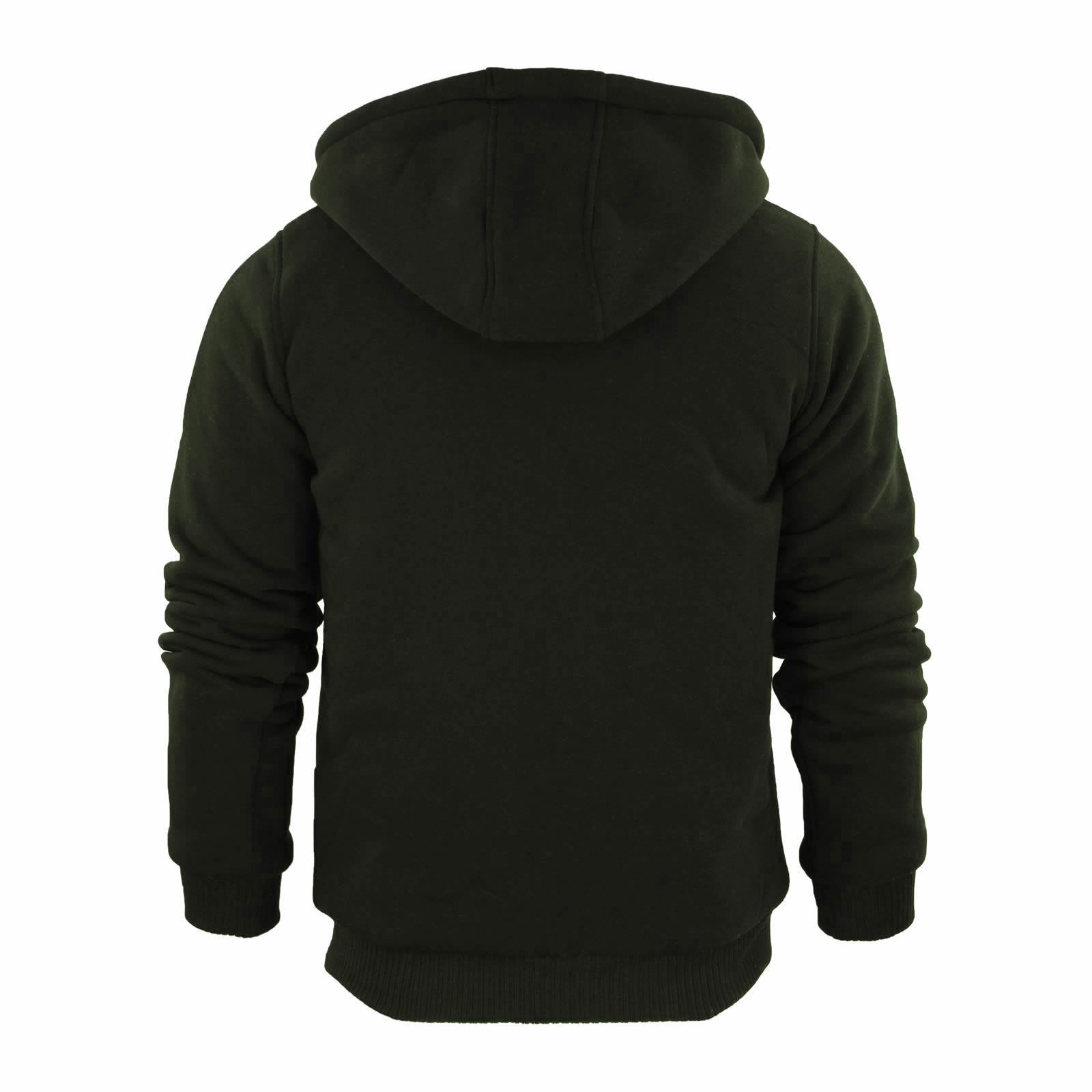 Mens-Hoodie-Brave-Soul-Zone-Sherpa-Fleece-Lined-Zip-Up-Hooded-Sweater thumbnail 12