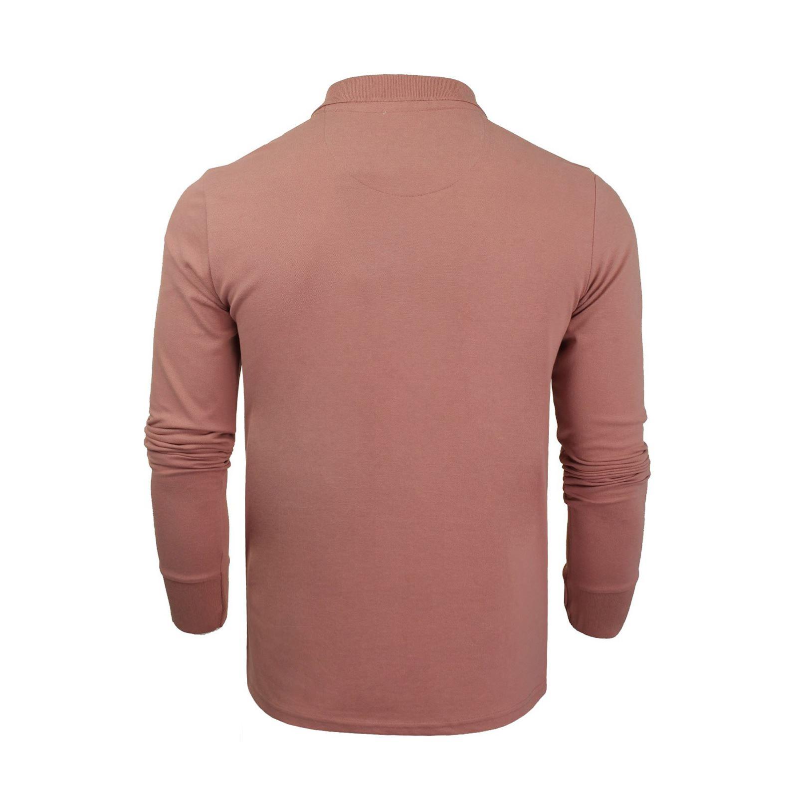 Homme-polo-t-shirt-brave-soul-lincoln-en-coton-a-manches-longues-pique-haut-decontracte miniature 21