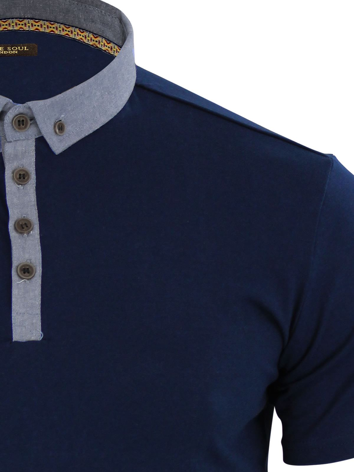 Brave-Soul-Glover-Mens-Polo-T-Shirt-Cotton-Collared-Short-Sleeve-Casual-Top thumbnail 7