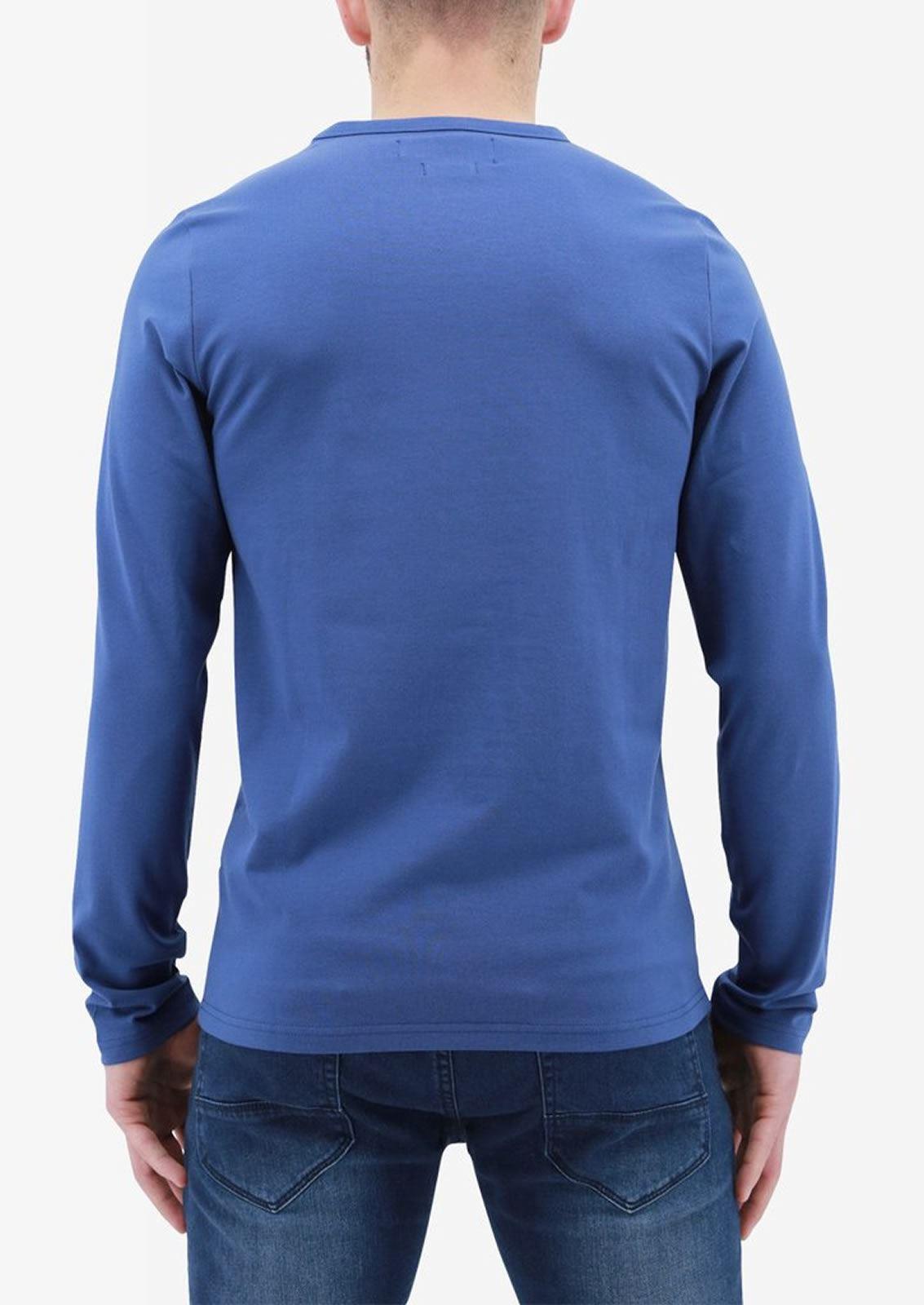 Ne-riche-par-l-039-argent-vetements-jaspe-sanguin-Hommes-T-Shirt-a-Manches-Longues-V-Neck-Tee miniature 6