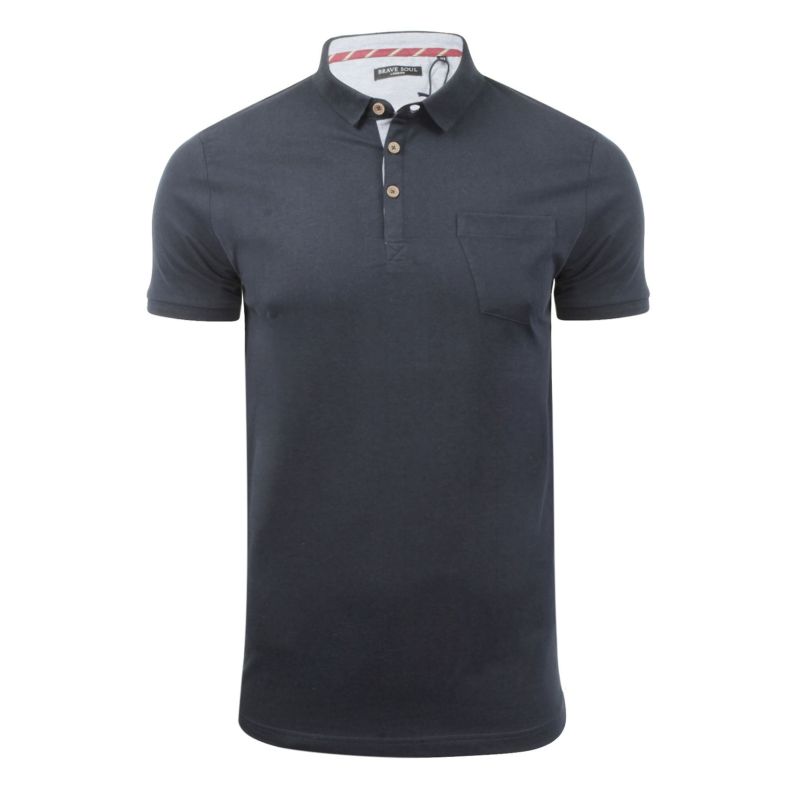 Mens-Polo-T-Shirt-Brave-Soul-Julius-Cotton-Collared-Short-Sleeve-Casual-Top thumbnail 34