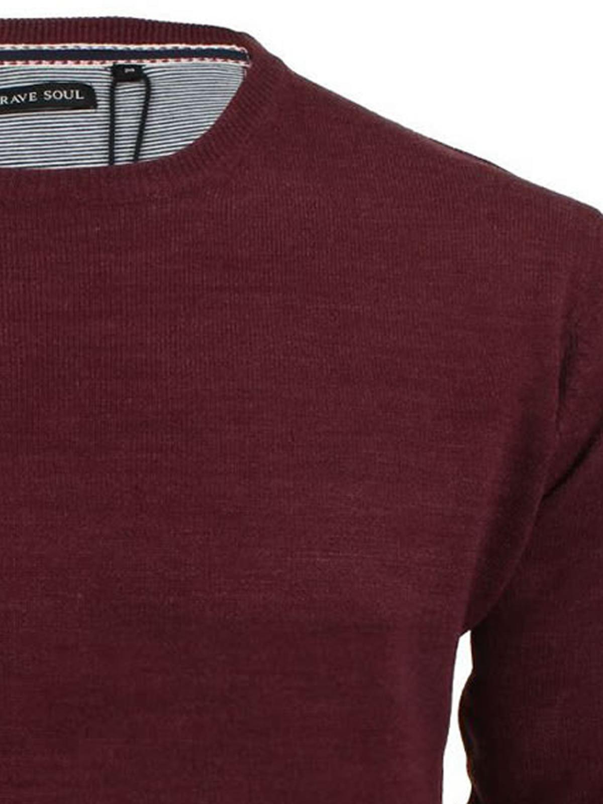 Brave-Soul-Urbain-Mens-Jumper-Knitted-Crew-Neck-Sweater thumbnail 4