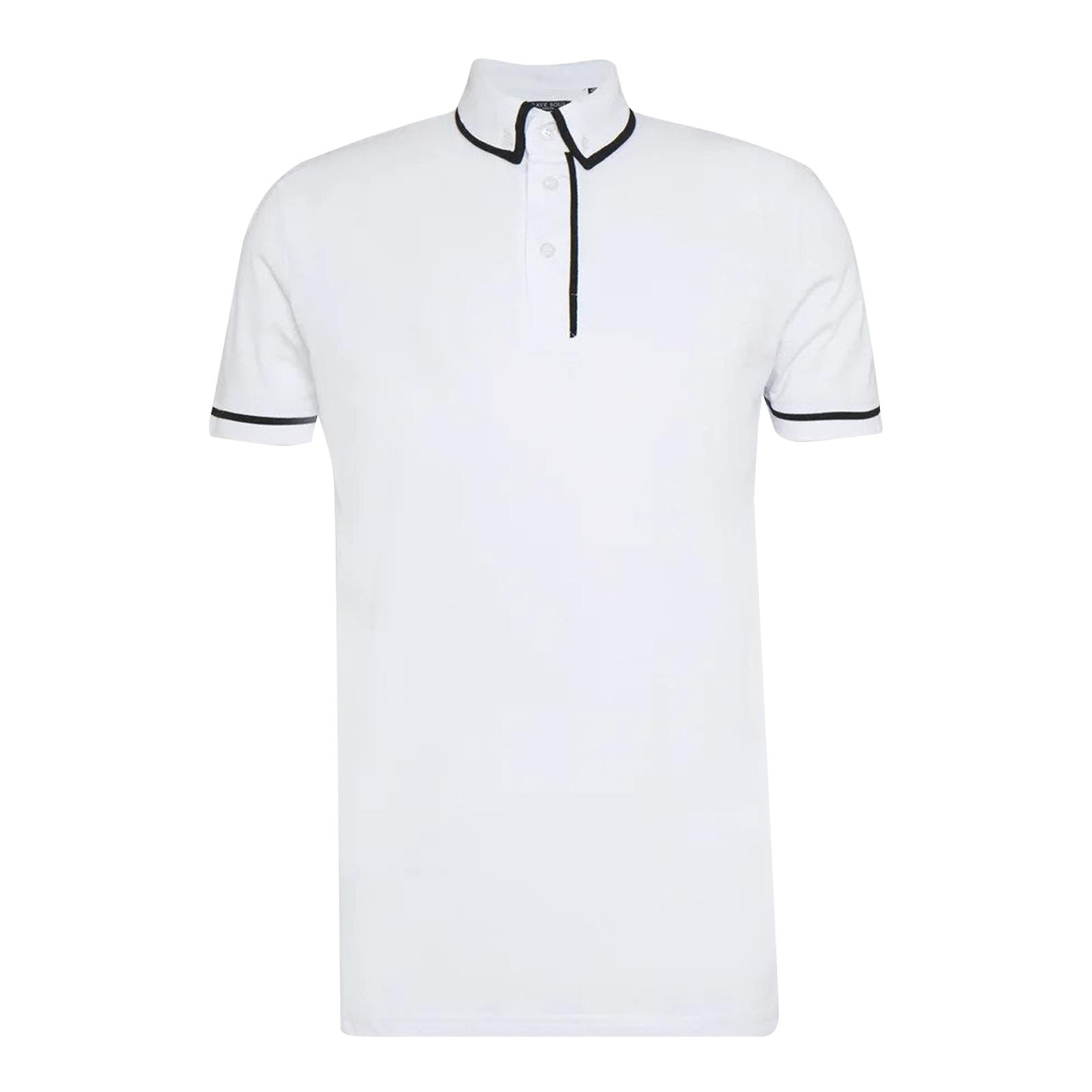 miniature 13 - Hommes-T-Shirt-Brave-Soul-Virgil-Polo-a-manches-courtes-Piping