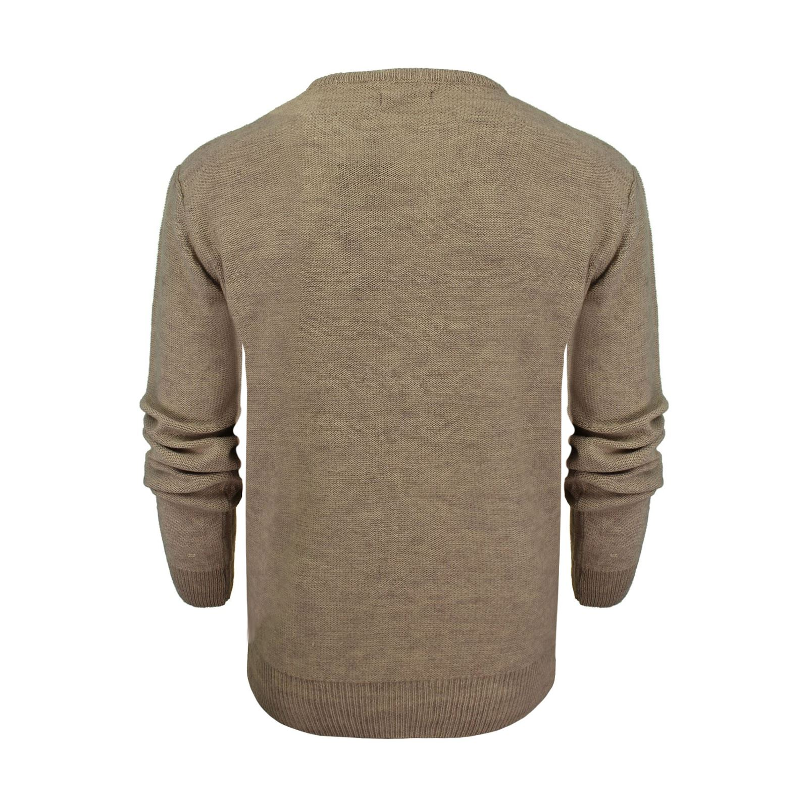Mens-Jumper-Brave-Soul-Bayard-Wool-Mix-Crew-Neck-Knitted-Sweater thumbnail 3