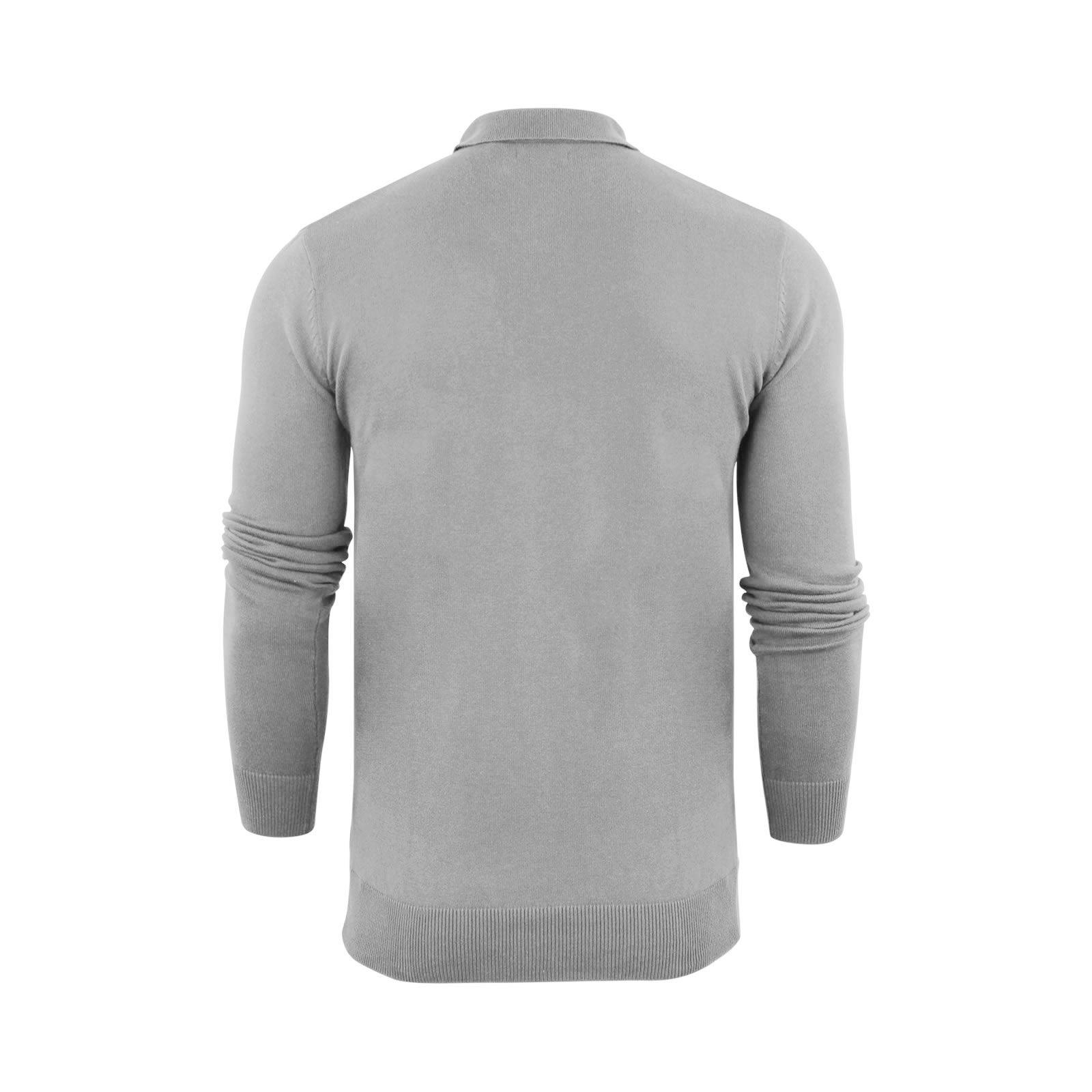 Brave-Soul-Patte-De-Boutonnage-Homme-Tricot-Polo-T-Shirt-a-Col-Pull miniature 24