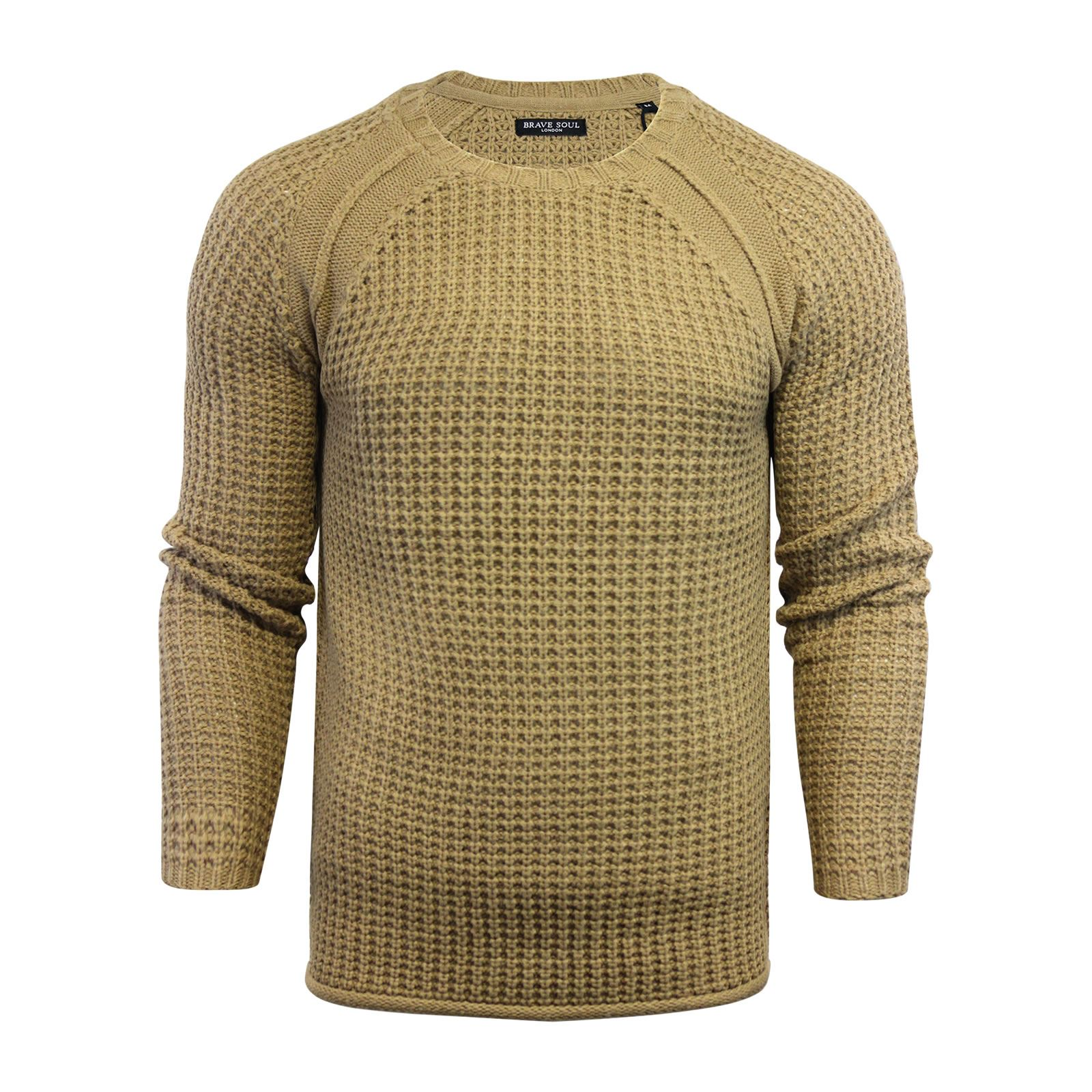 Mens-Jumper-Brave-Soul-Knitted-Sweater-In-Various-Styles thumbnail 98