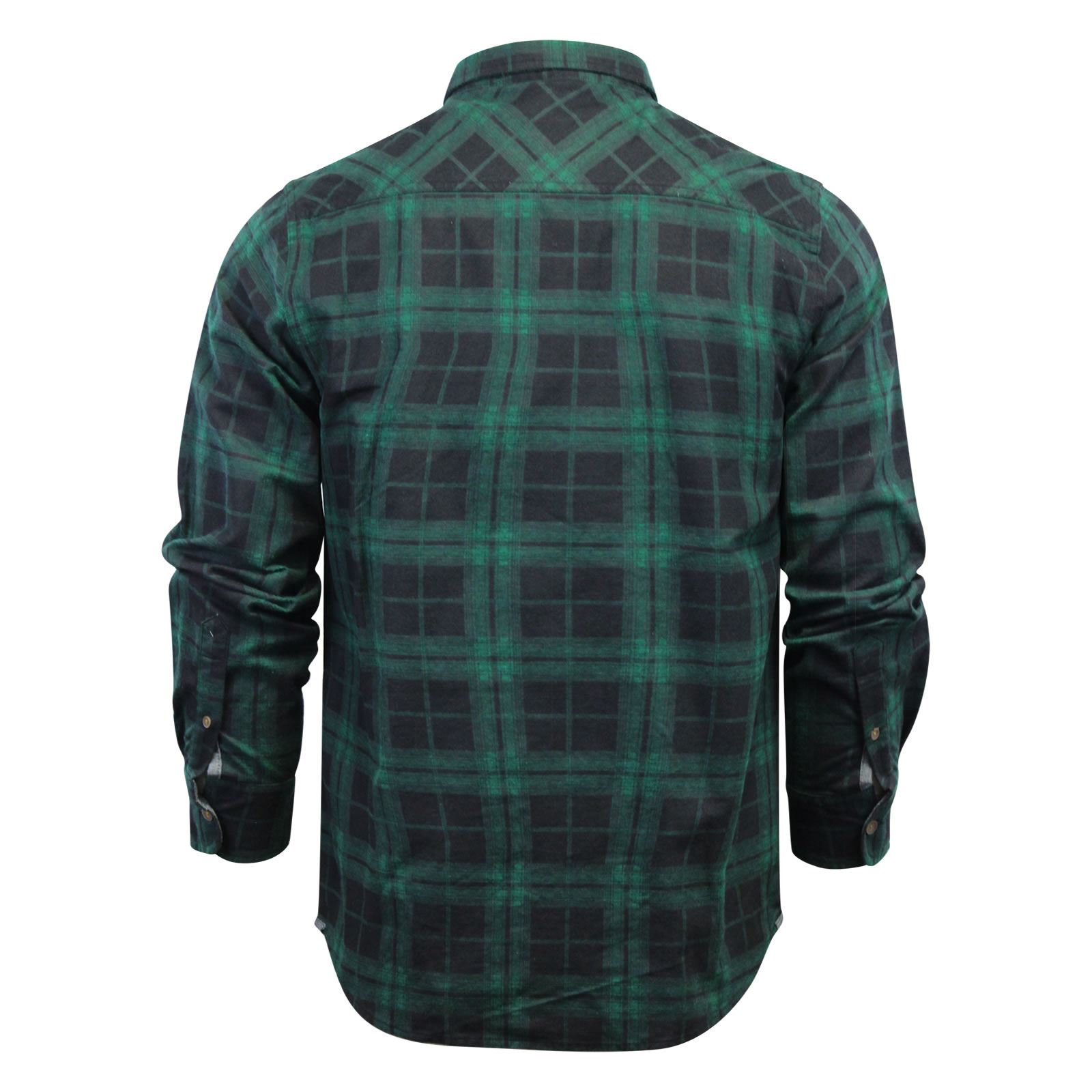 Mens-Check-Shirt-Brave-Soul-Flannel-Brushed-Cotton-Long-Sleeve-Casual-Top thumbnail 107