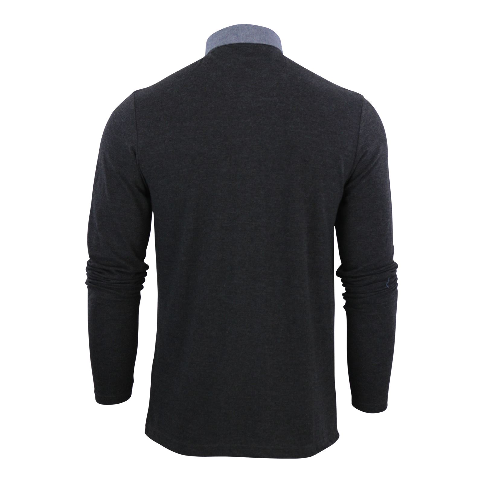 Mens-Polo-T-Shirt-Brave-Soul-Hera-Cotton-Long-Sleeve-Casual-Top thumbnail 3