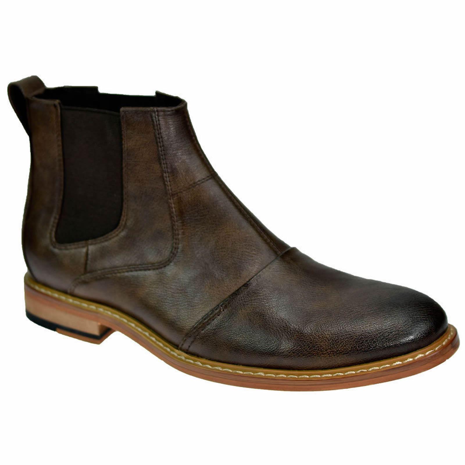 mens chelsea boots cavani simon leather look slip on