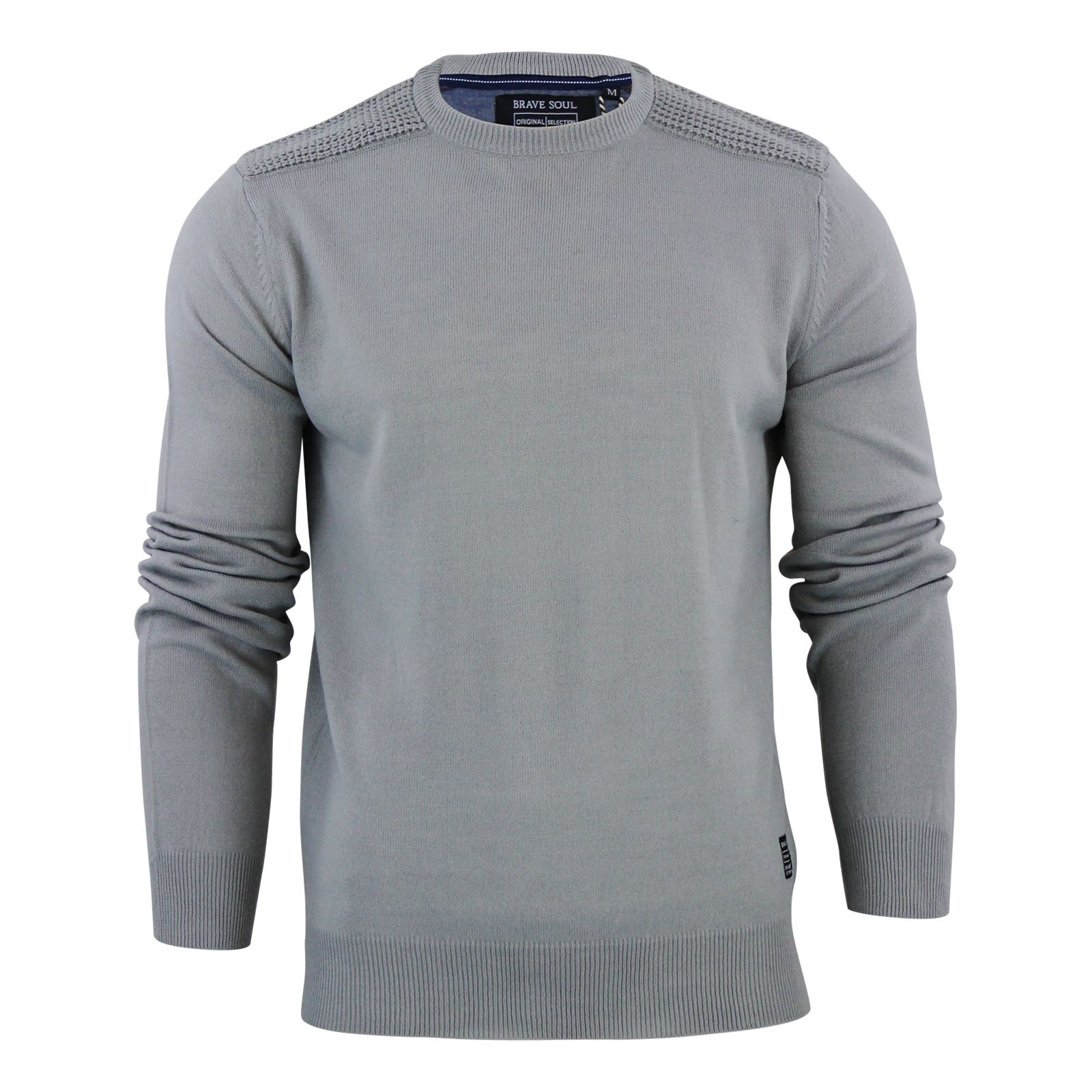 Mens-Jumper-Brave-Soul-Knitted-Sweater-In-Various-Styles thumbnail 79