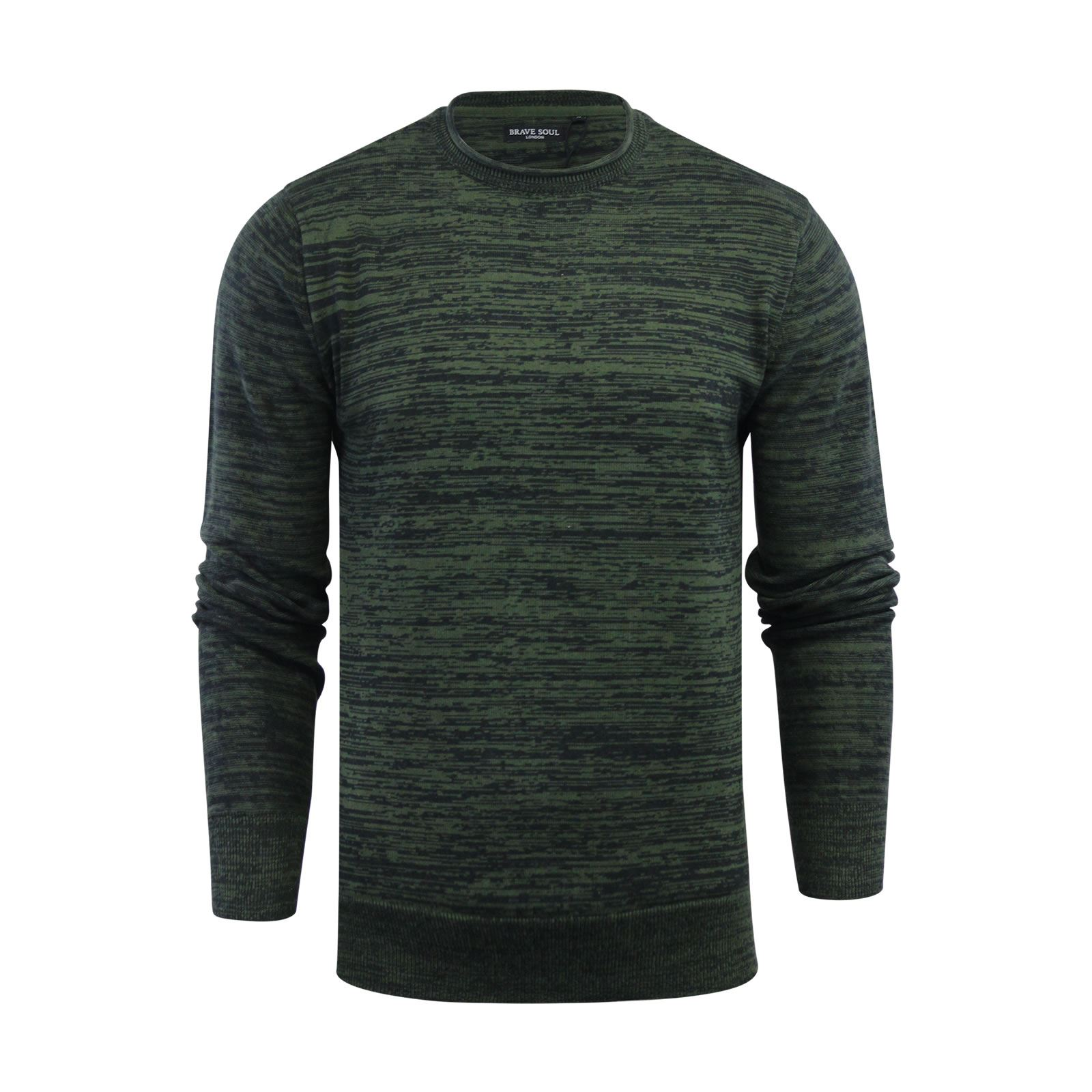Mens-Jumper-Brave-Soul-Knitted-Sweater-In-Various-Styles thumbnail 10