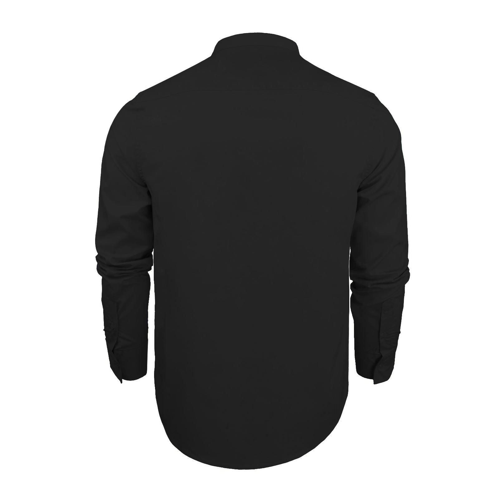 Mens-Shirt-Brave-Soul-Magnus-Plain-Grandad-Collar-Long-Sleeve-Casual-Top thumbnail 9