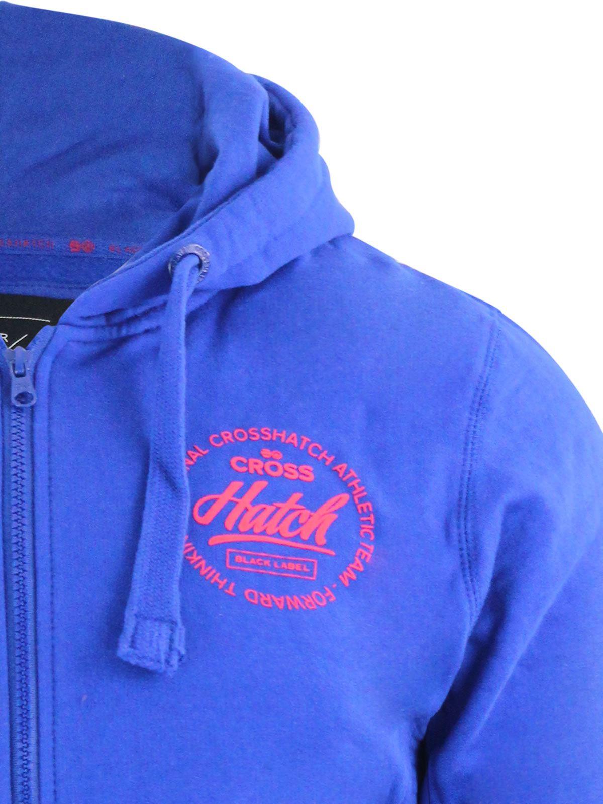 Mens-Hoodie-Crosshatch-Ribbler-Zip-Up-Hooded-Jacket-Pullover-Jumper-Sweatershirt thumbnail 17