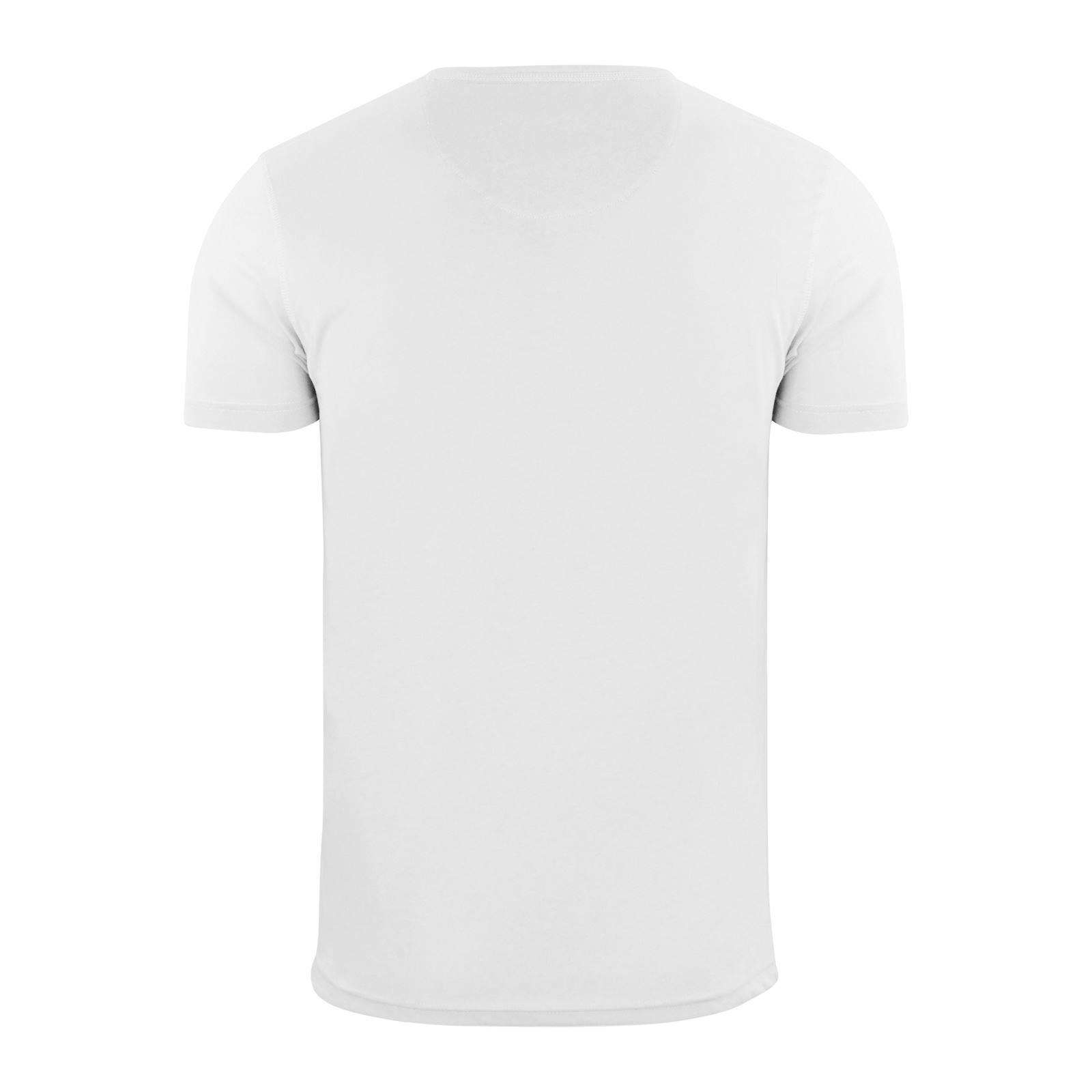 Brave-Soul-Quartz-Homme-T-Shirt-Grandad-Neck-manches-courtes-coton-tee miniature 5