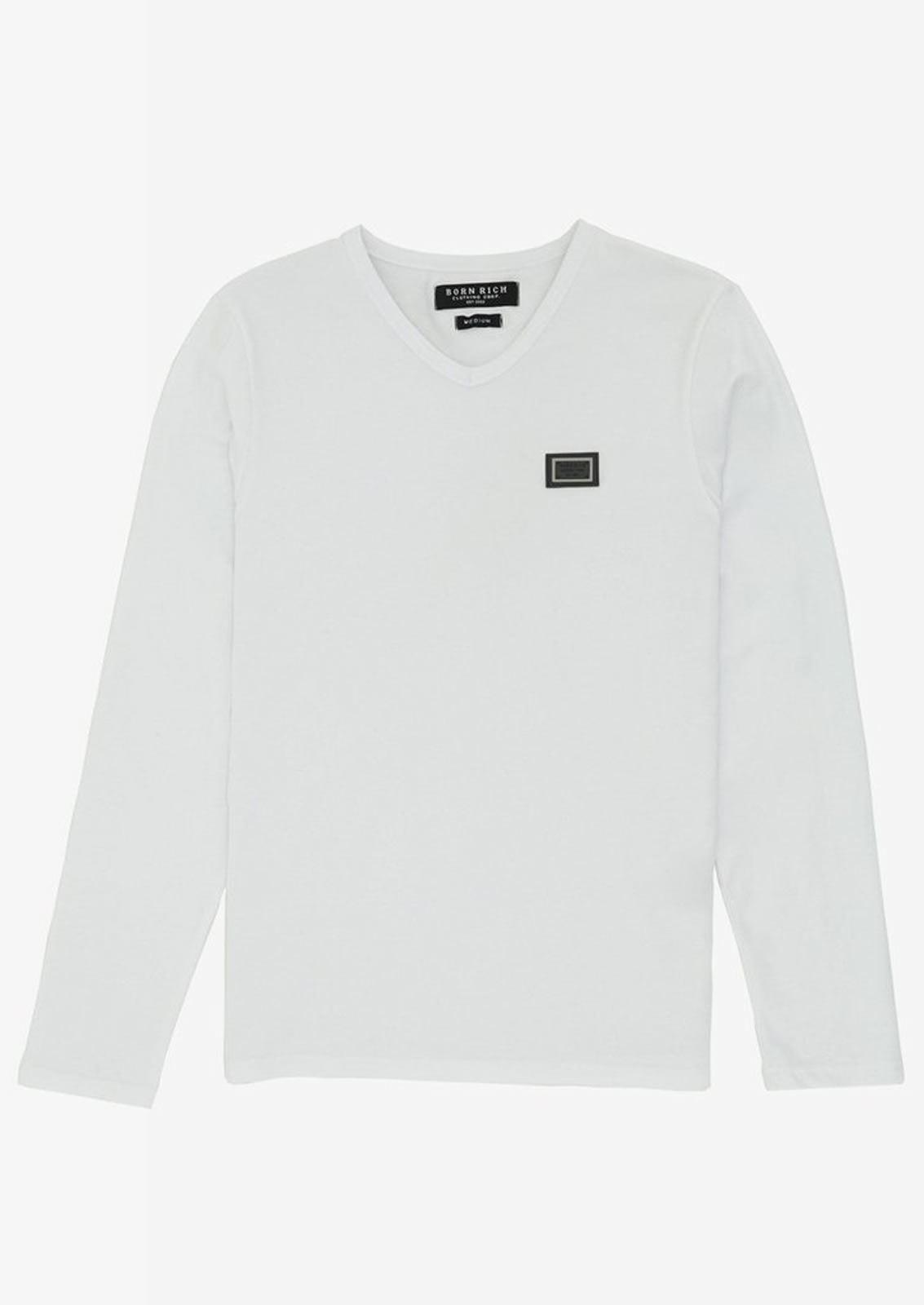 Ne-riche-par-l-039-argent-vetements-jaspe-sanguin-Hommes-T-Shirt-a-Manches-Longues-V-Neck-Tee miniature 4