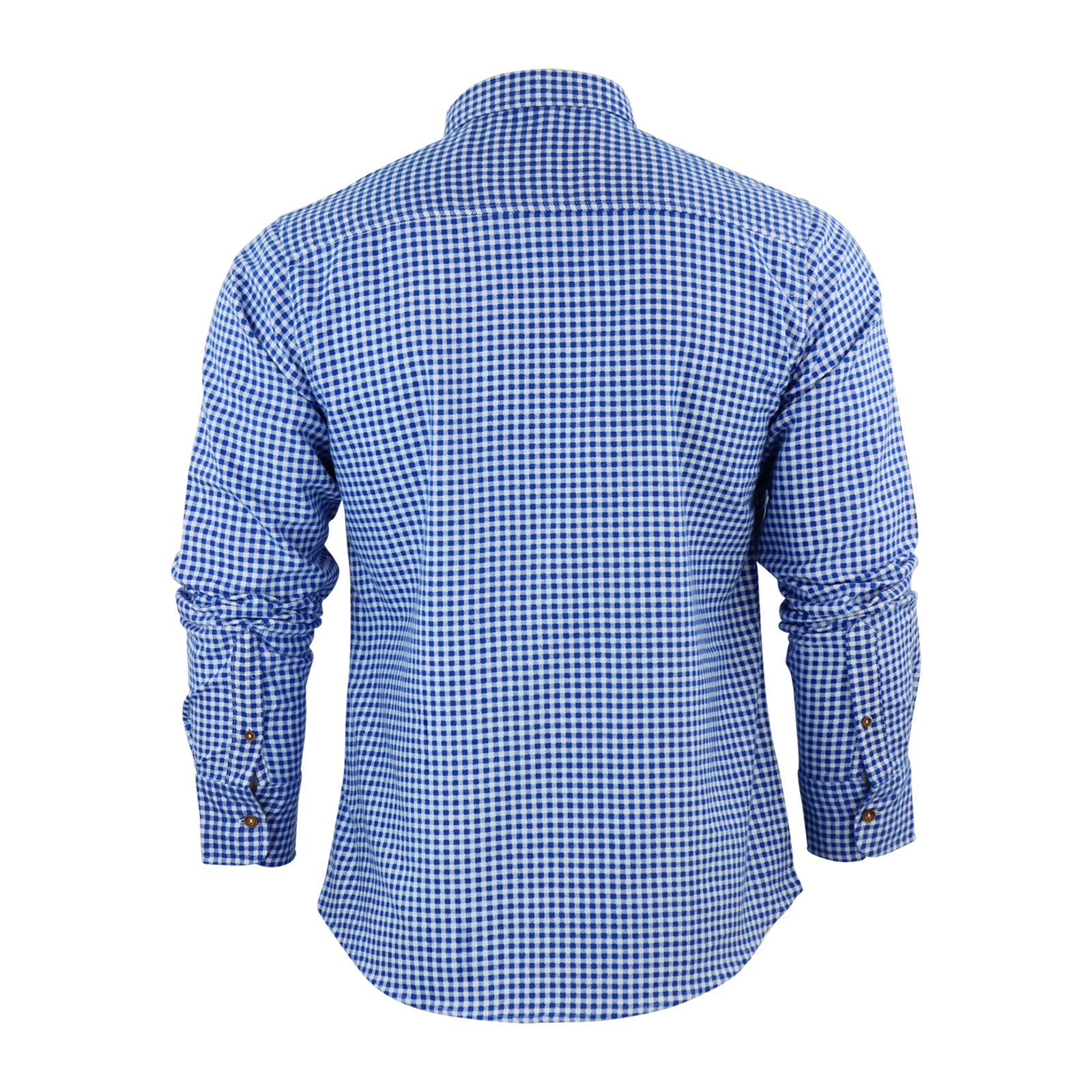 Mens-Check-Shirt-Brave-Soul-Flannel-Brushed-Cotton-Long-Sleeve-Casual-Top thumbnail 6