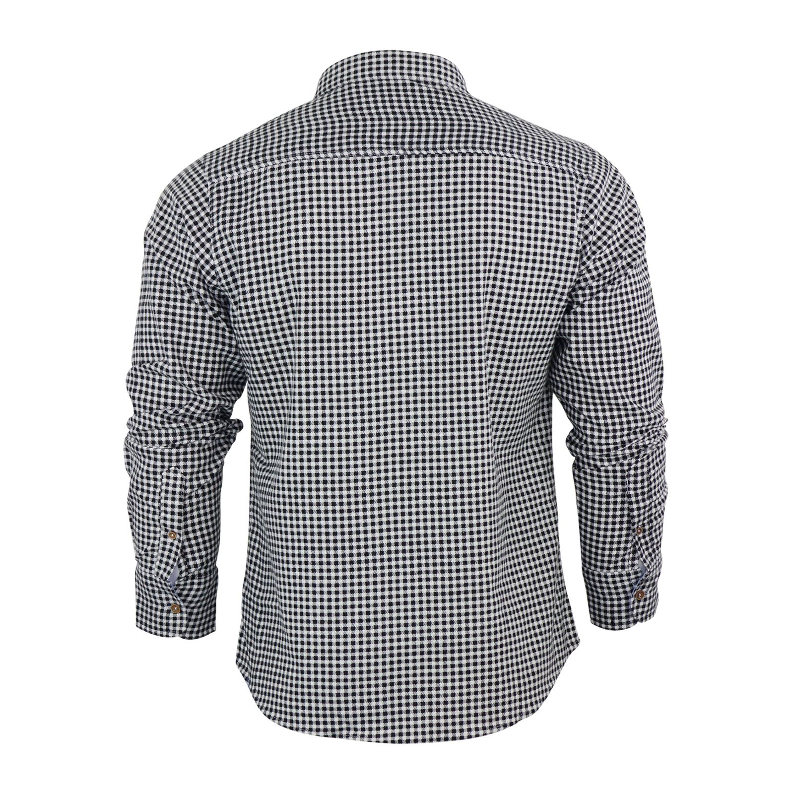 1332550d5 Mens Check Shirt Brave Soul Flannel Brushed Cotton Long Sleeve ...