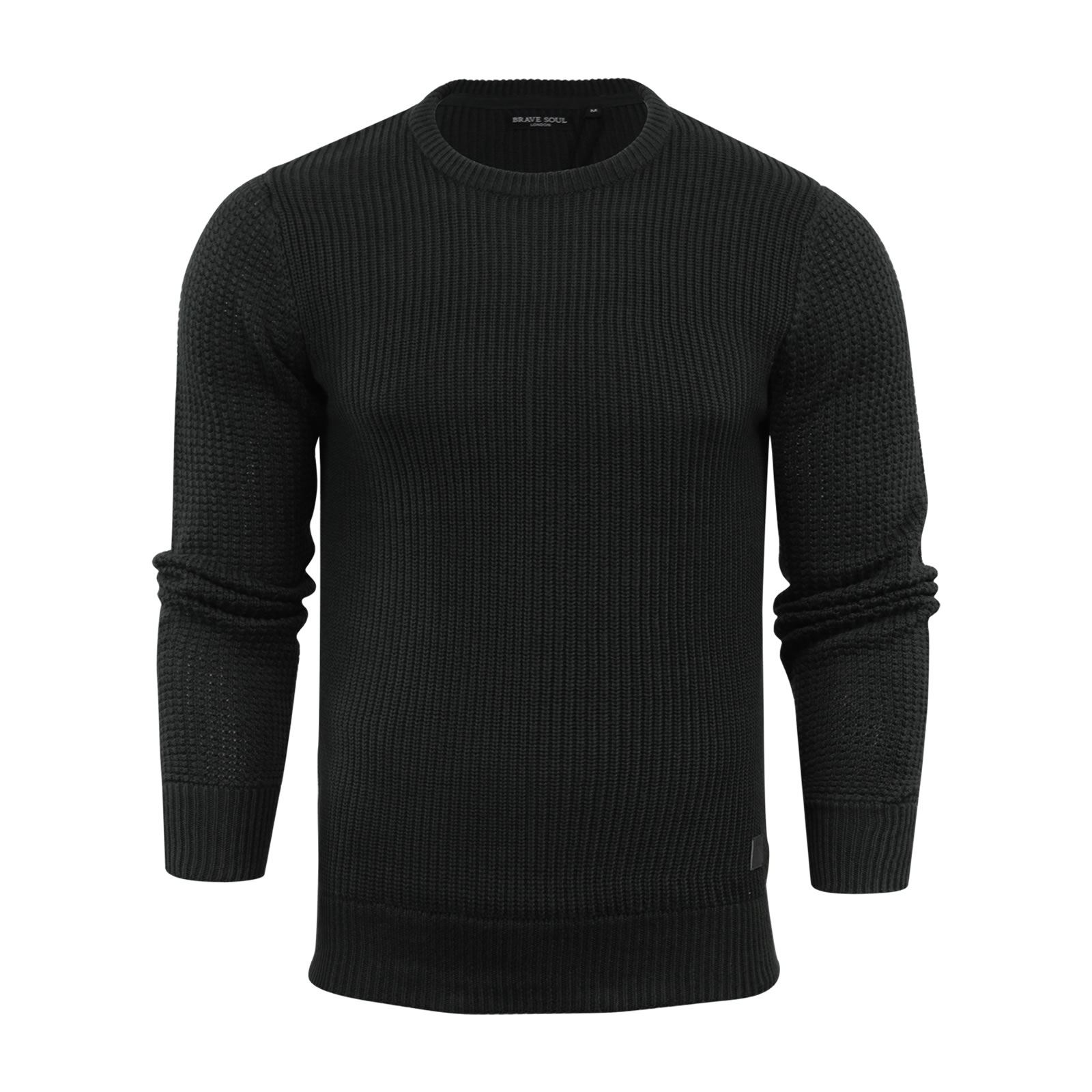 Mens-Jumper-Brave-Soul-Knitted-Sweater-In-Various-Styles thumbnail 129