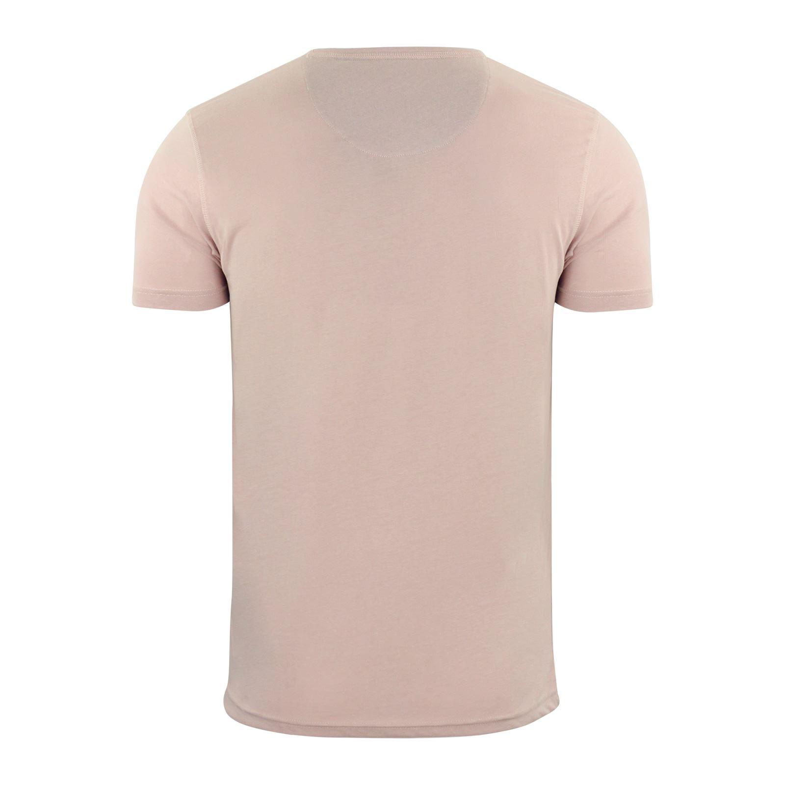 Brave-Soul-Quartz-Homme-T-Shirt-Grandad-Neck-manches-courtes-coton-tee miniature 9