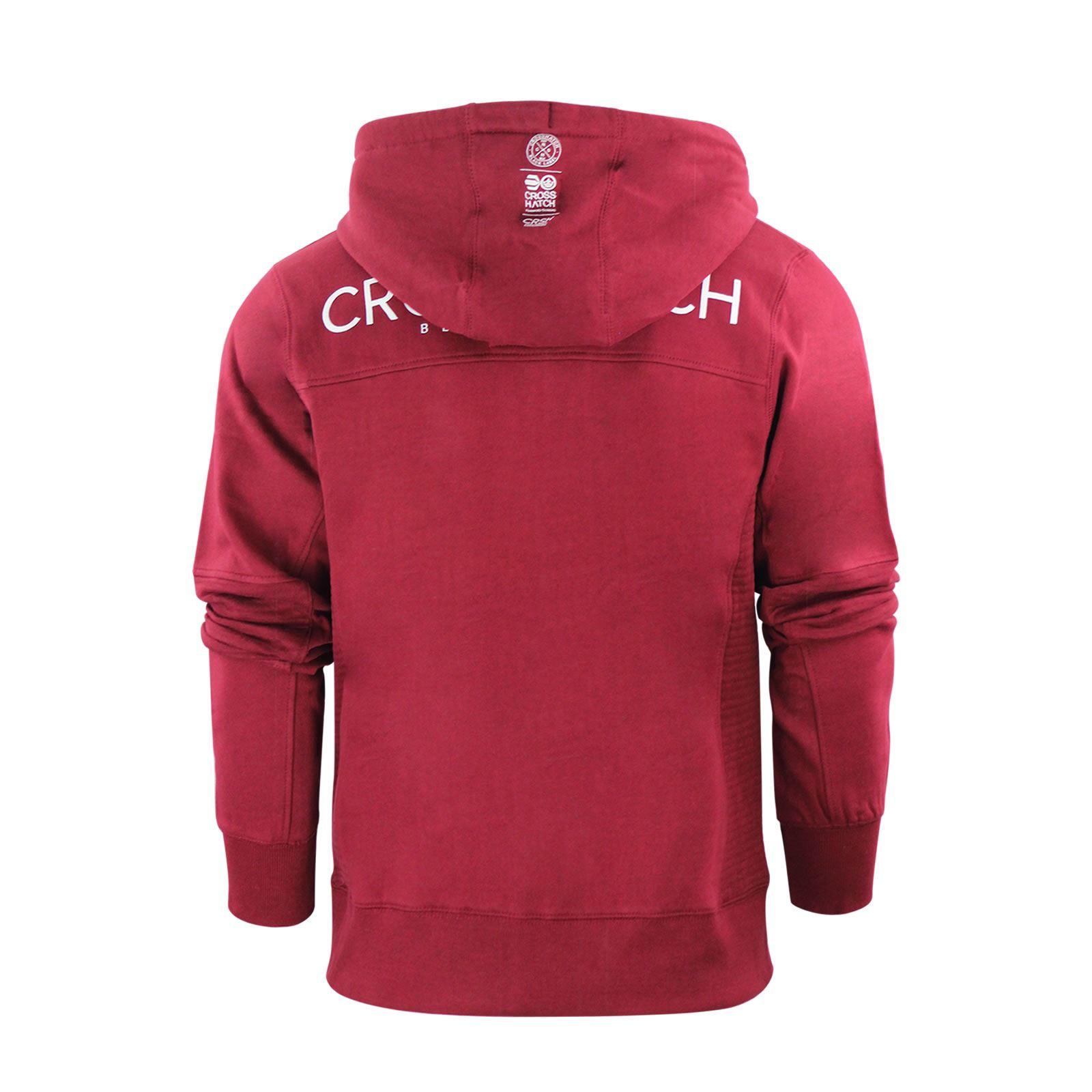 Mens-Hoodie-Crosshatch-Ribbler-Zip-Up-Hooded-Jacket-Pullover-Jumper-Sweatershirt thumbnail 22