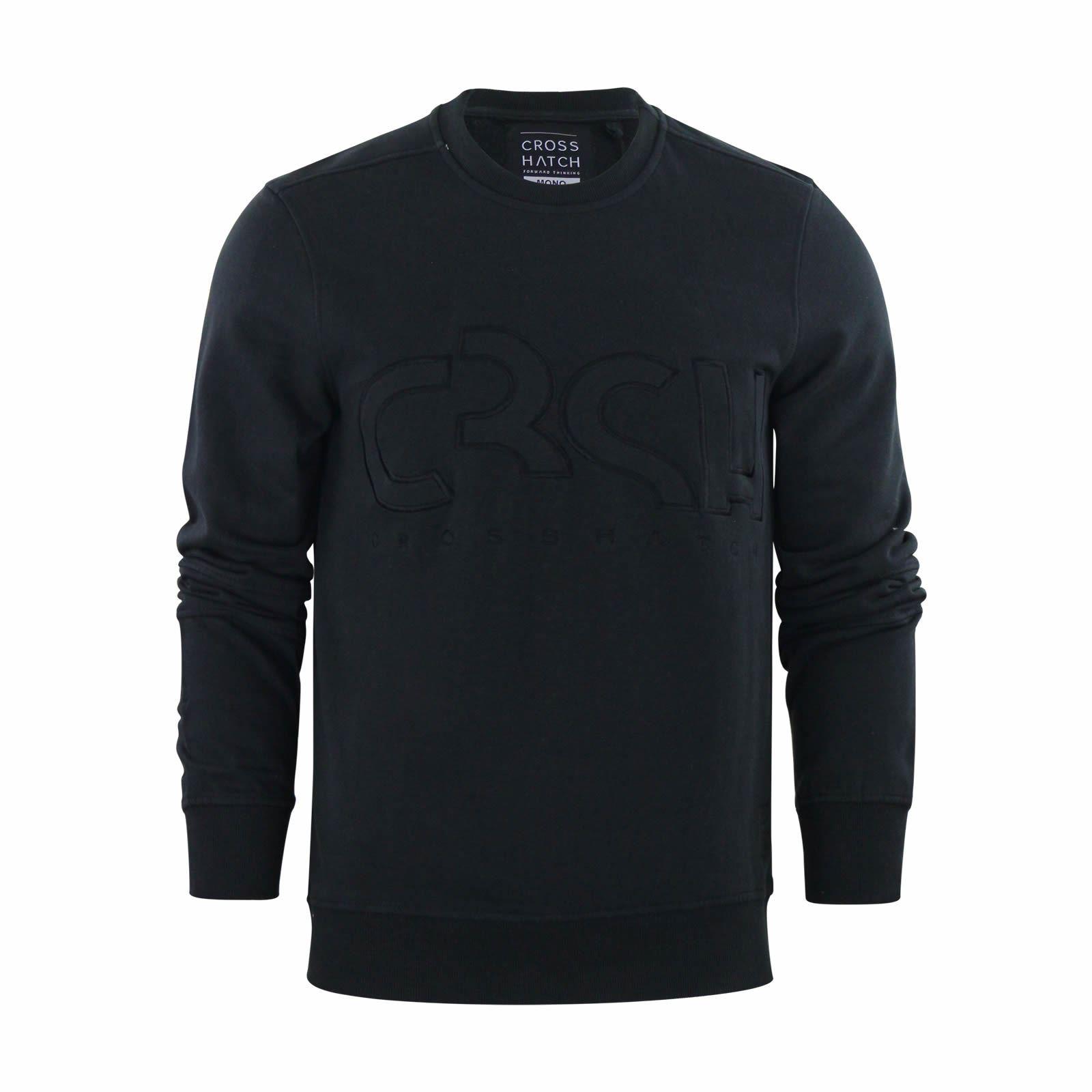 Details about Crosshatch Jathan Mens Sweater Jumper Crew Neck Sweatshirt