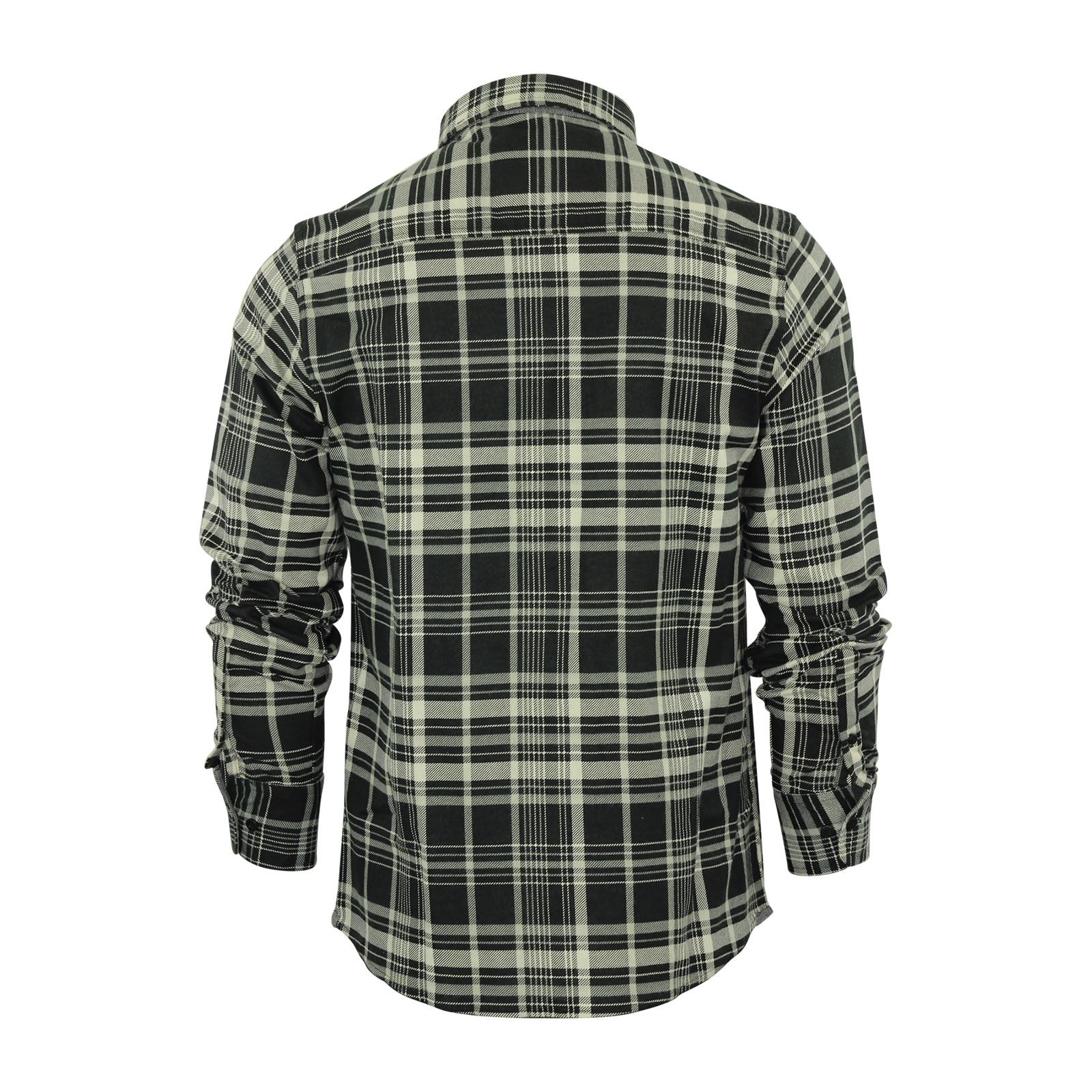 Mens-Check-Shirt-Brave-Soul-Flannel-Brushed-Cotton-Long-Sleeve-Casual-Top thumbnail 33