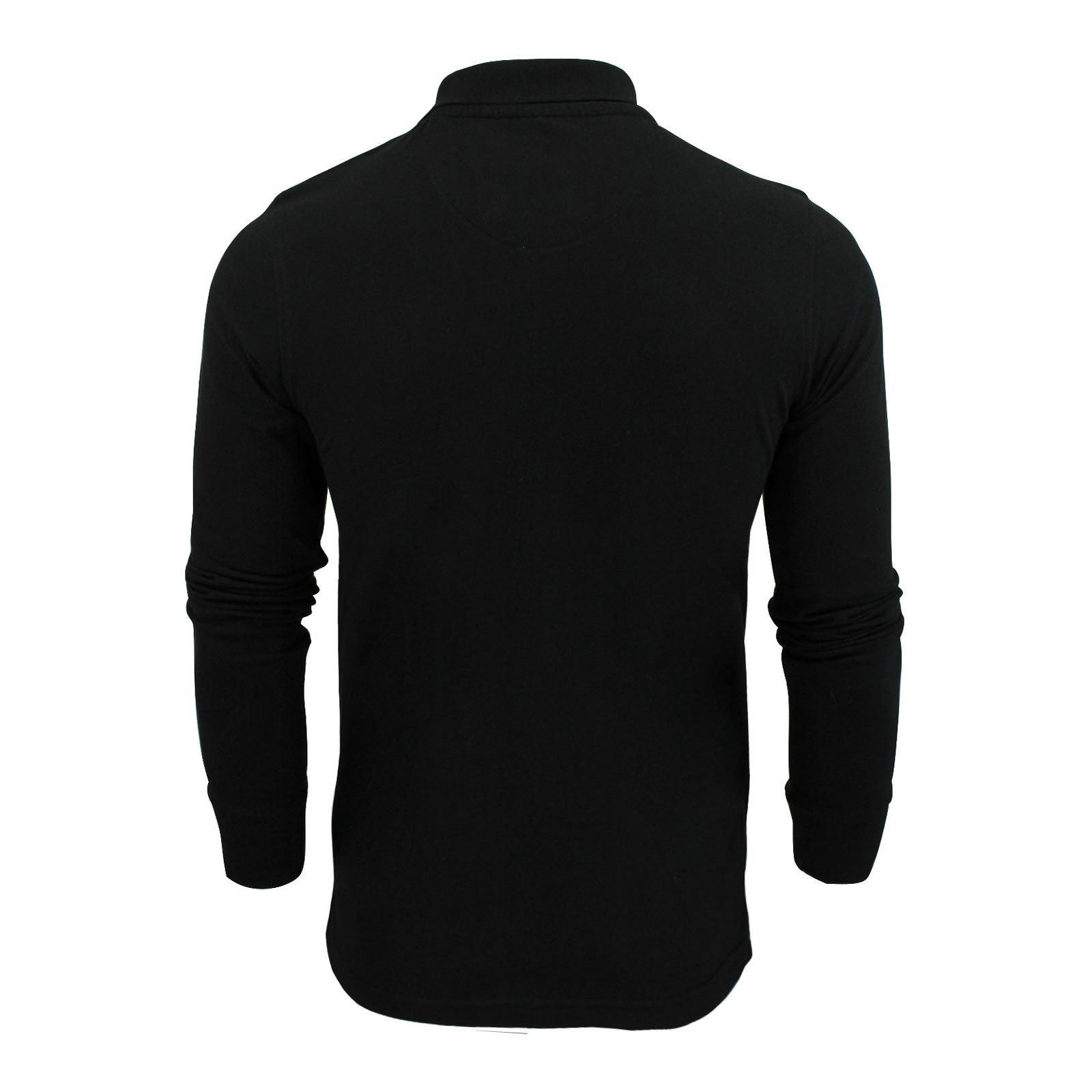 Brave-Soul-Polo-Homme-a-Manches-Longues-A-Col-Haut-Dans-Divers-Styles miniature 7
