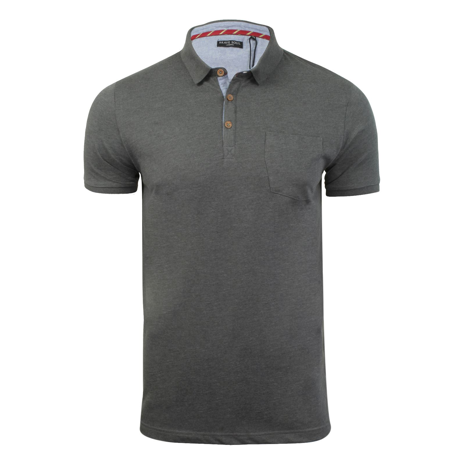Mens-Polo-T-Shirt-Brave-Soul-Glover-Cotton-Collared-Short-Sleeve-Casual-Top thumbnail 81