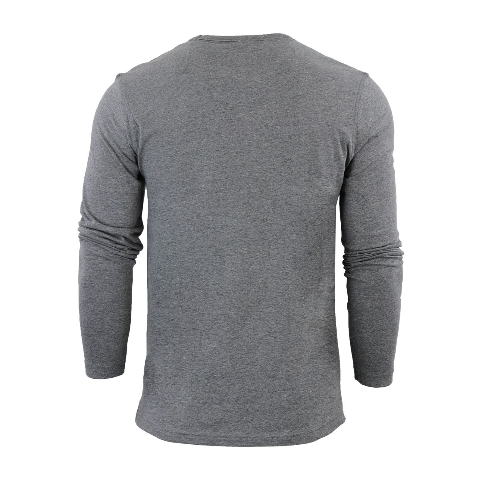 Brave-Soul-Prague-Mens-T-Shirt-by-Cotton-Long-Sleeved-Crew-Neck-Casual-Top thumbnail 32