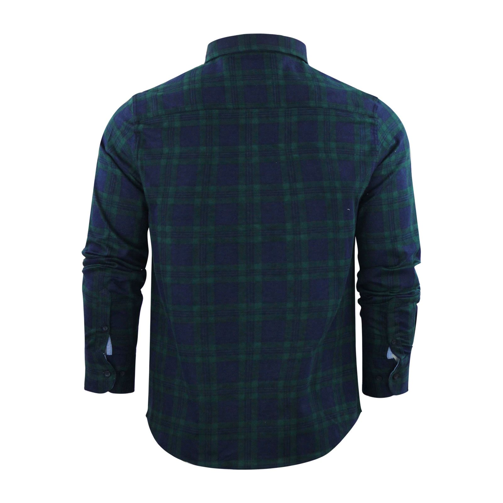 Mens-Check-Shirt-Brave-Soul-Flannel-Brushed-Cotton-Long-Sleeve-Casual-Top thumbnail 75