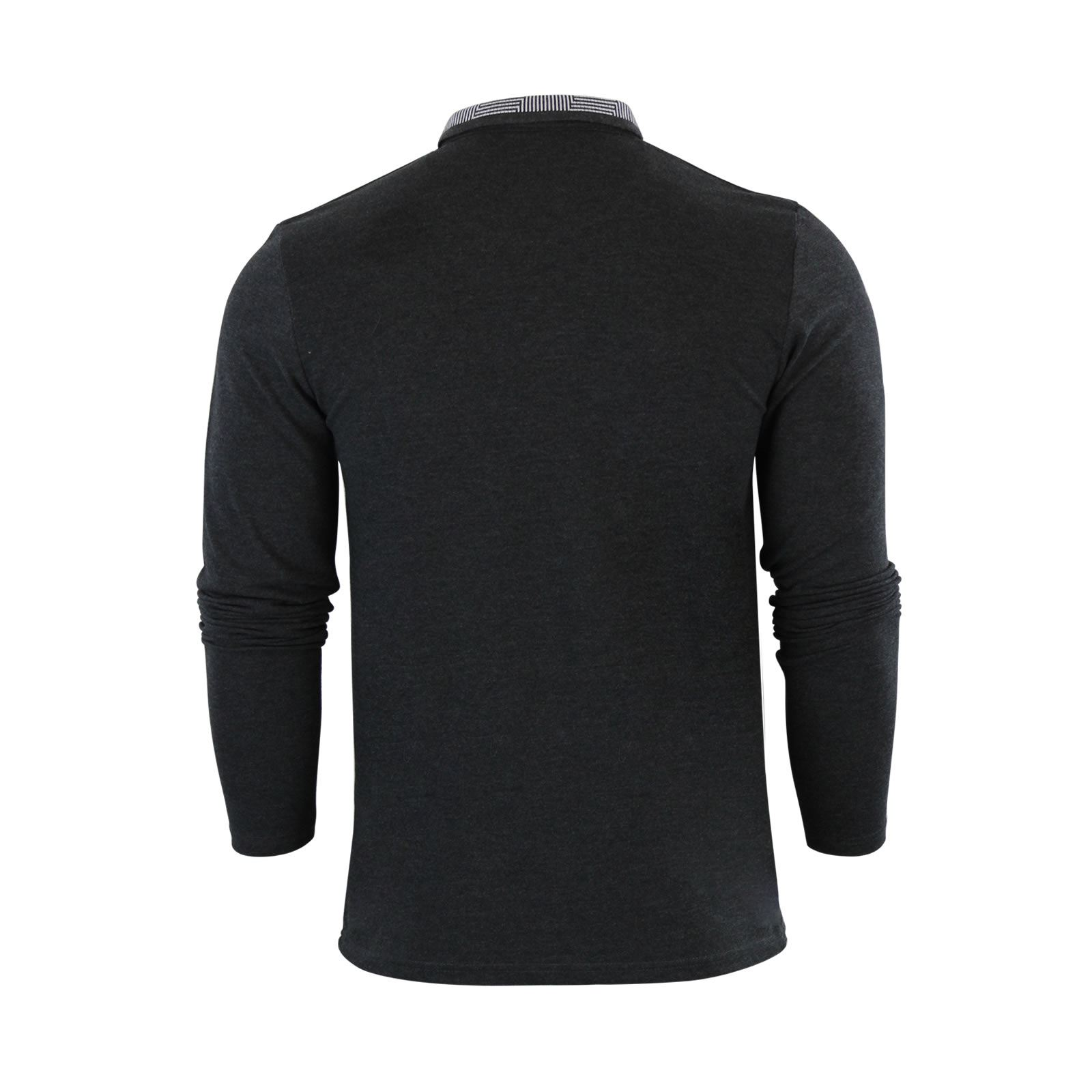 Brave-Soul-Mens-Polo-Shirt-Long-Sleeve-Collared-Top-In-Various-Styles thumbnail 94