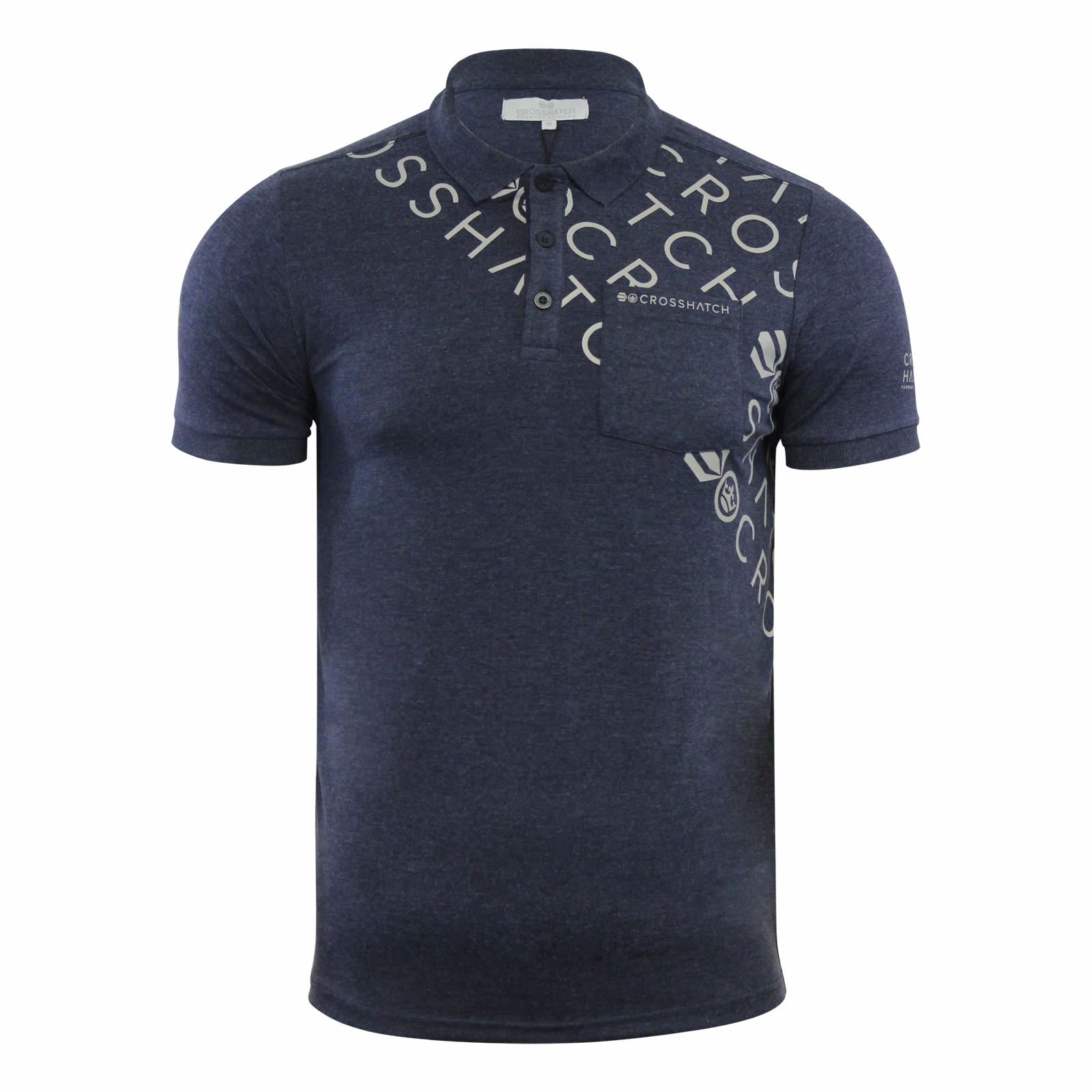 Crosshatch-Mens-Polo-T-Shirt-Pique-Polo-Cotton-Collared-Short-Sleeve-T-Shirt thumbnail 57