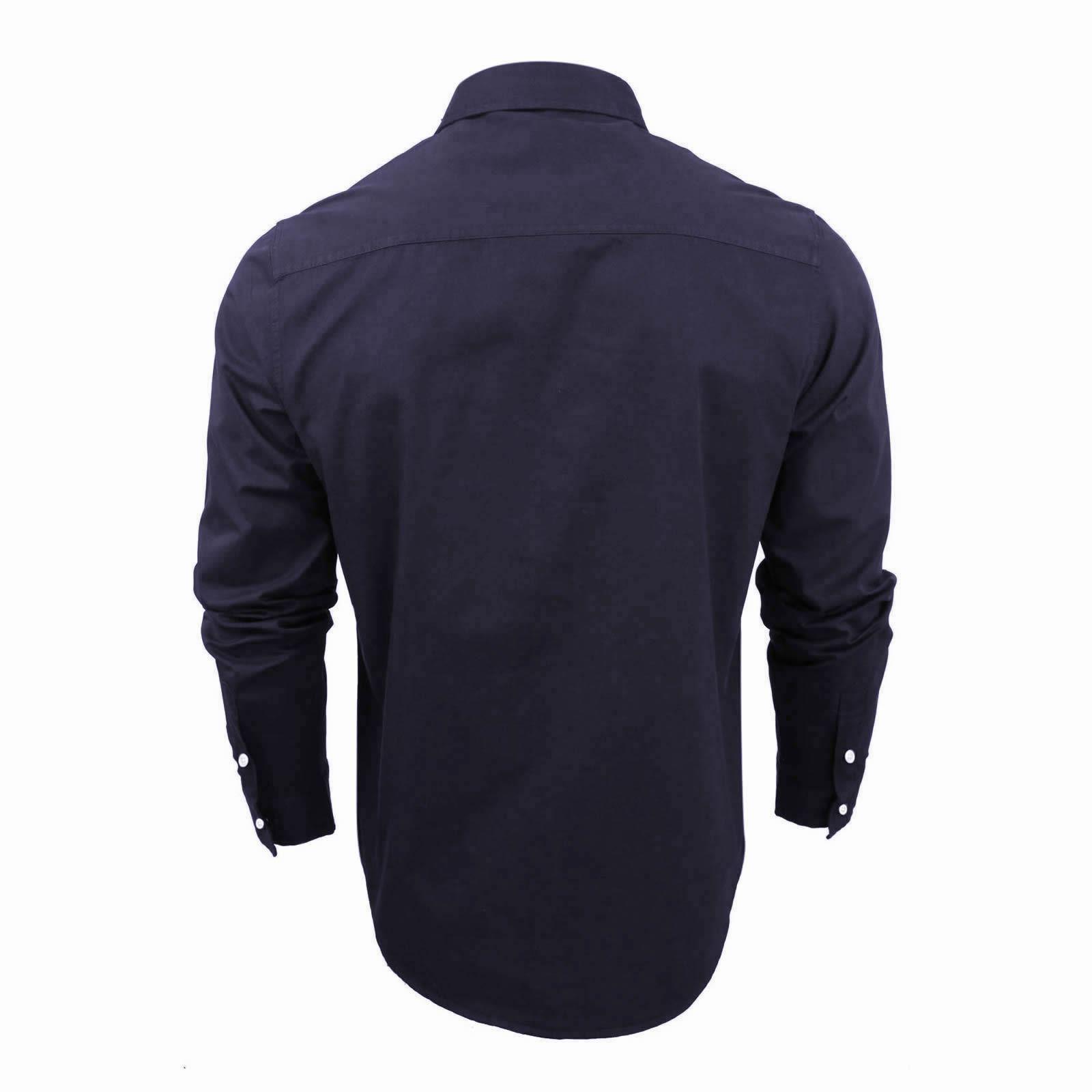 Mens-Shirt-Brave-Soul-Holmes-Long-Sleeve-Cotton-Canvas-Casual-Top thumbnail 5