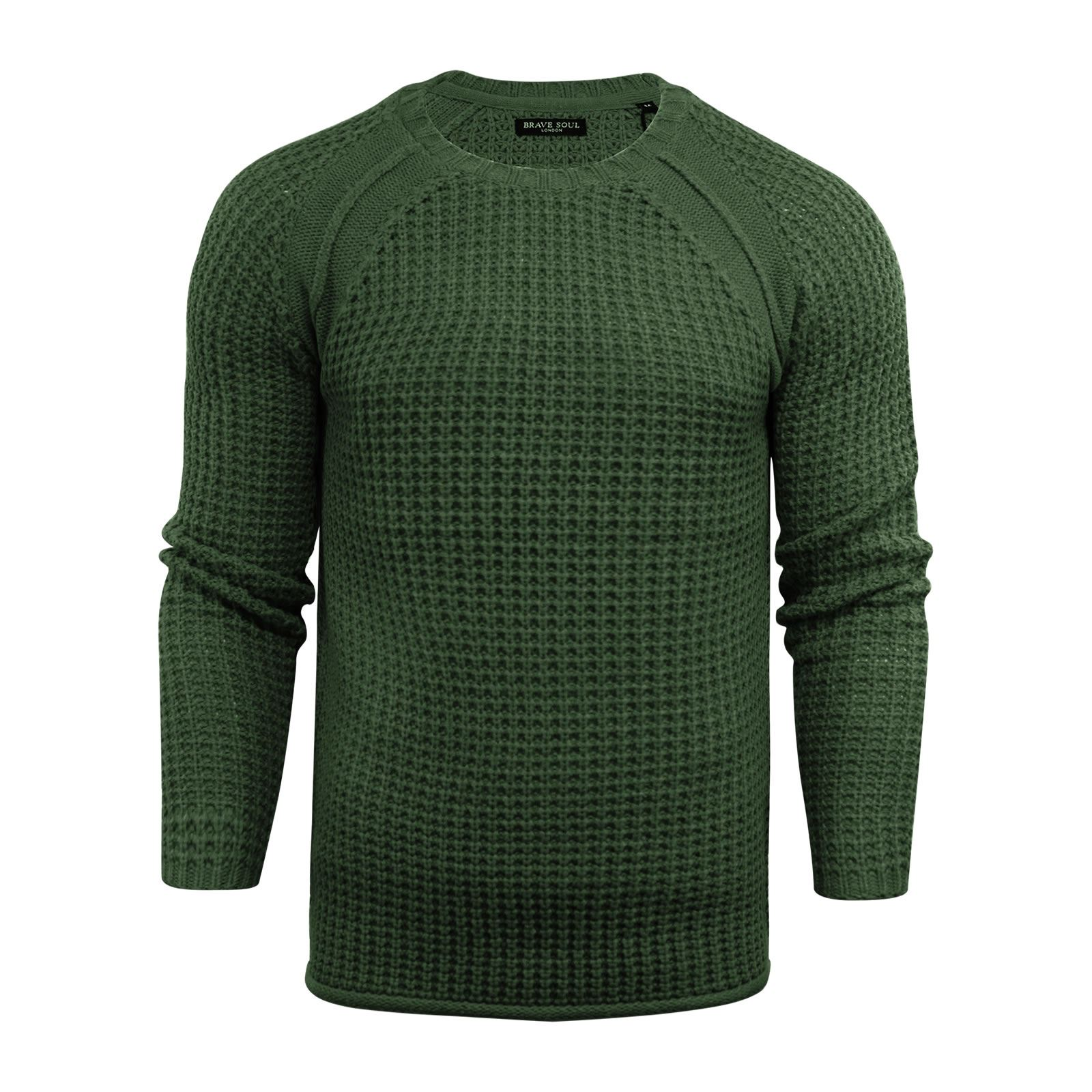 Mens-Jumper-Brave-Soul-Knitted-Sweater-In-Various-Styles thumbnail 100