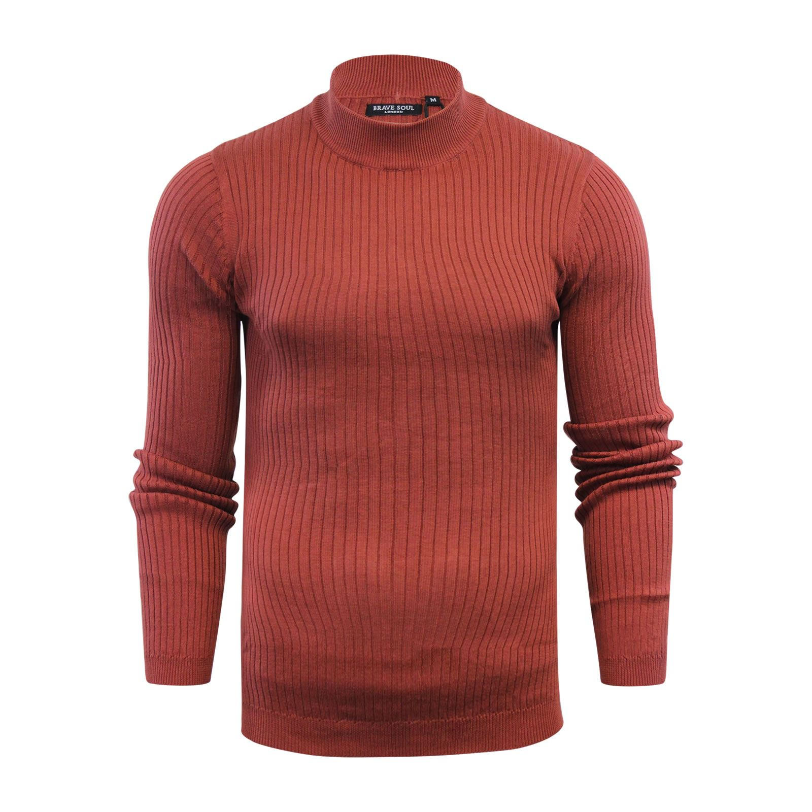 Mens-Jumper-Brave-Soul-Knitted-Sweater-In-Various-Styles thumbnail 88