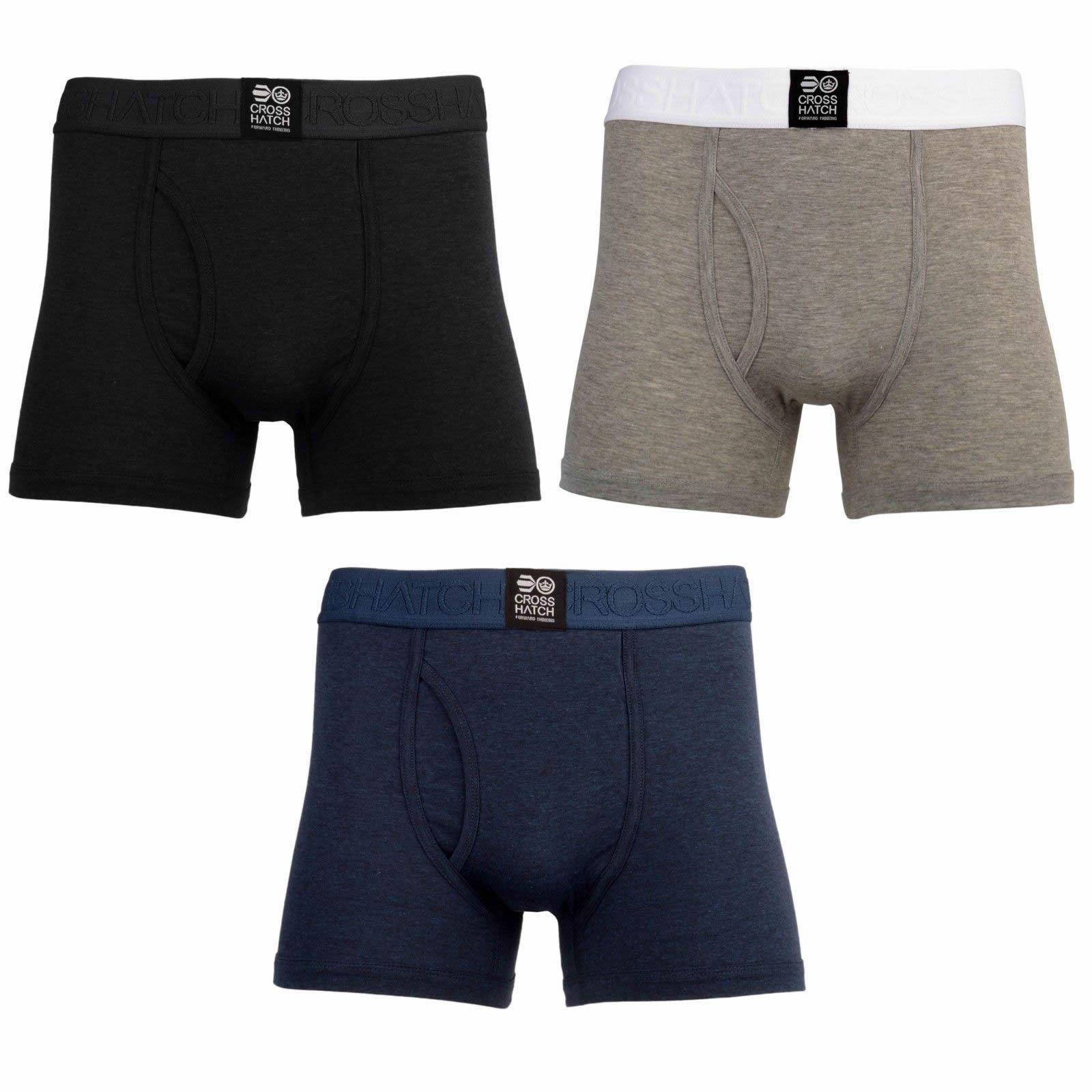 Crosshatch Triplet Homme Boxer Shorts 3 Conditionnement Multiple Multiple Conditionnement de sous-vêtements Caleçons 24de0a