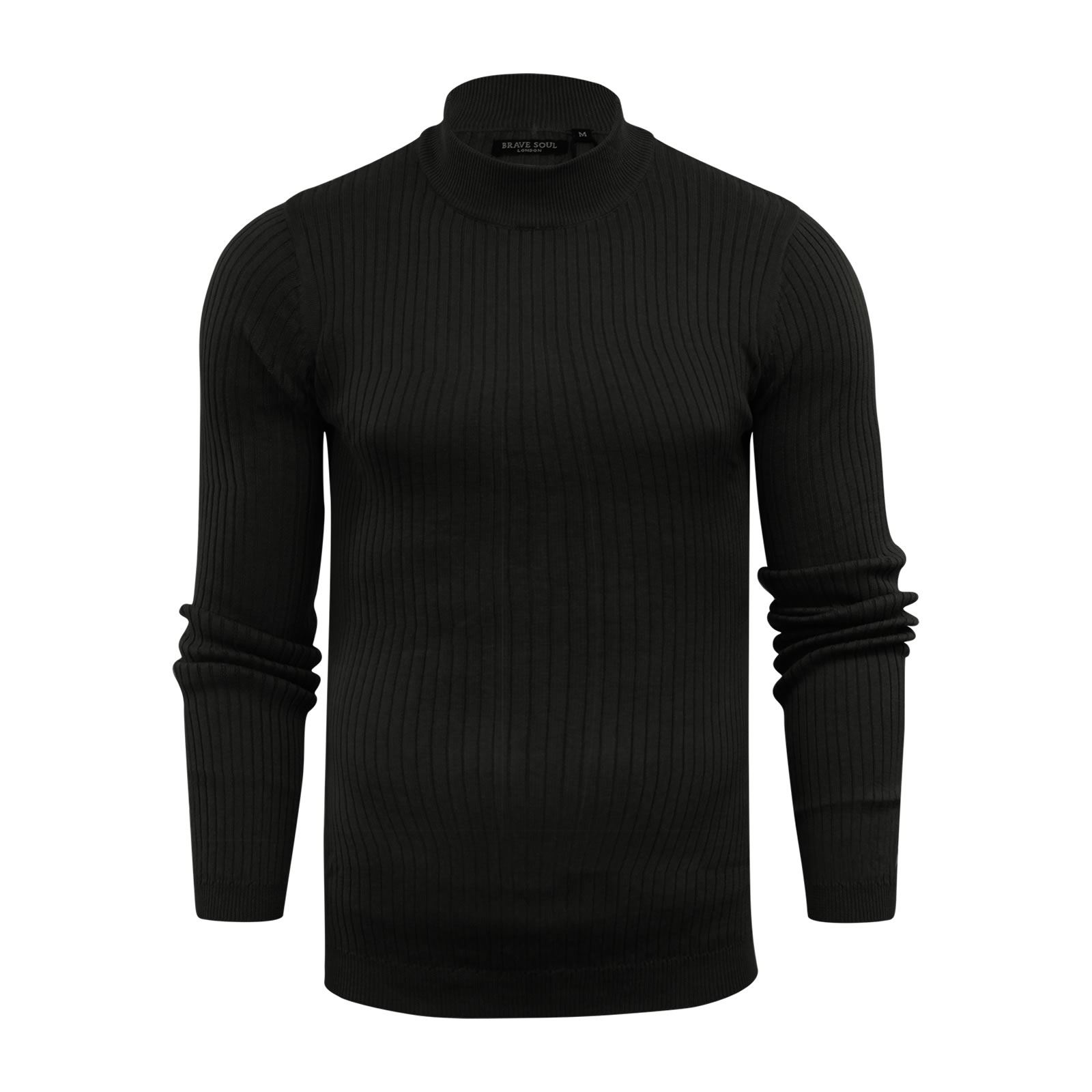 Mens-Jumper-Brave-Soul-Knitted-Sweater-In-Various-Styles thumbnail 86